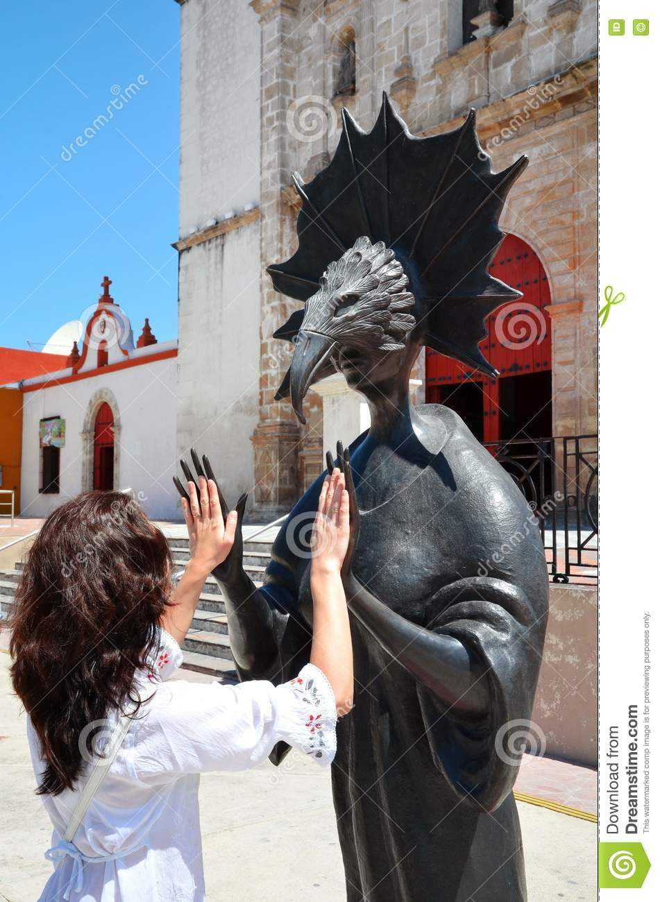 Campeche, Mexico-February 18, 2014: Women on street in Campeche City Mexico
