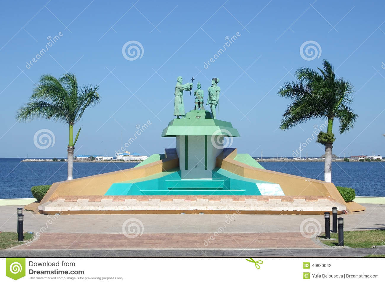 Main Square And Cathedral In Campeche, Mexico Editorial ...   Campeche City Monuments