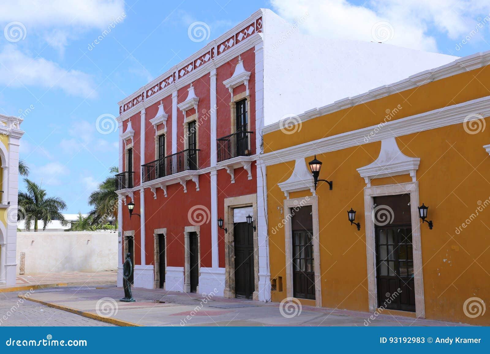 Campeche-Stadtkolonialarchitektur, Yucatan, Mexiko