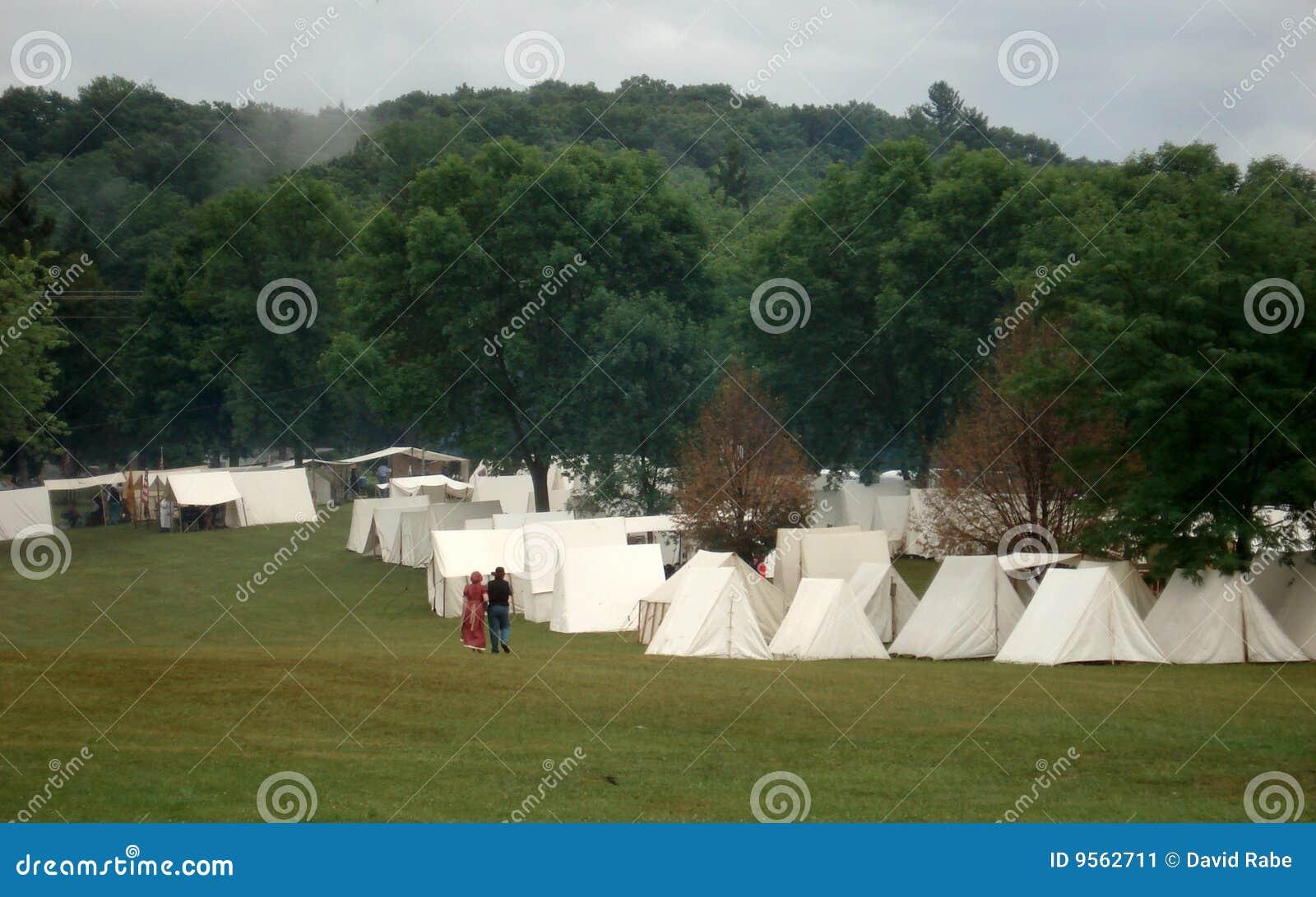 Campement de guerre civile