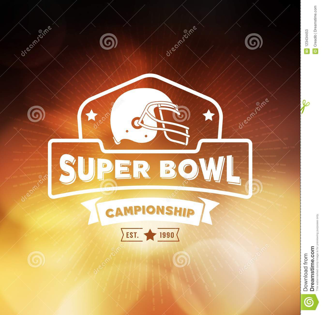 Campeonato Logo Sport Design Template do Super Bowl