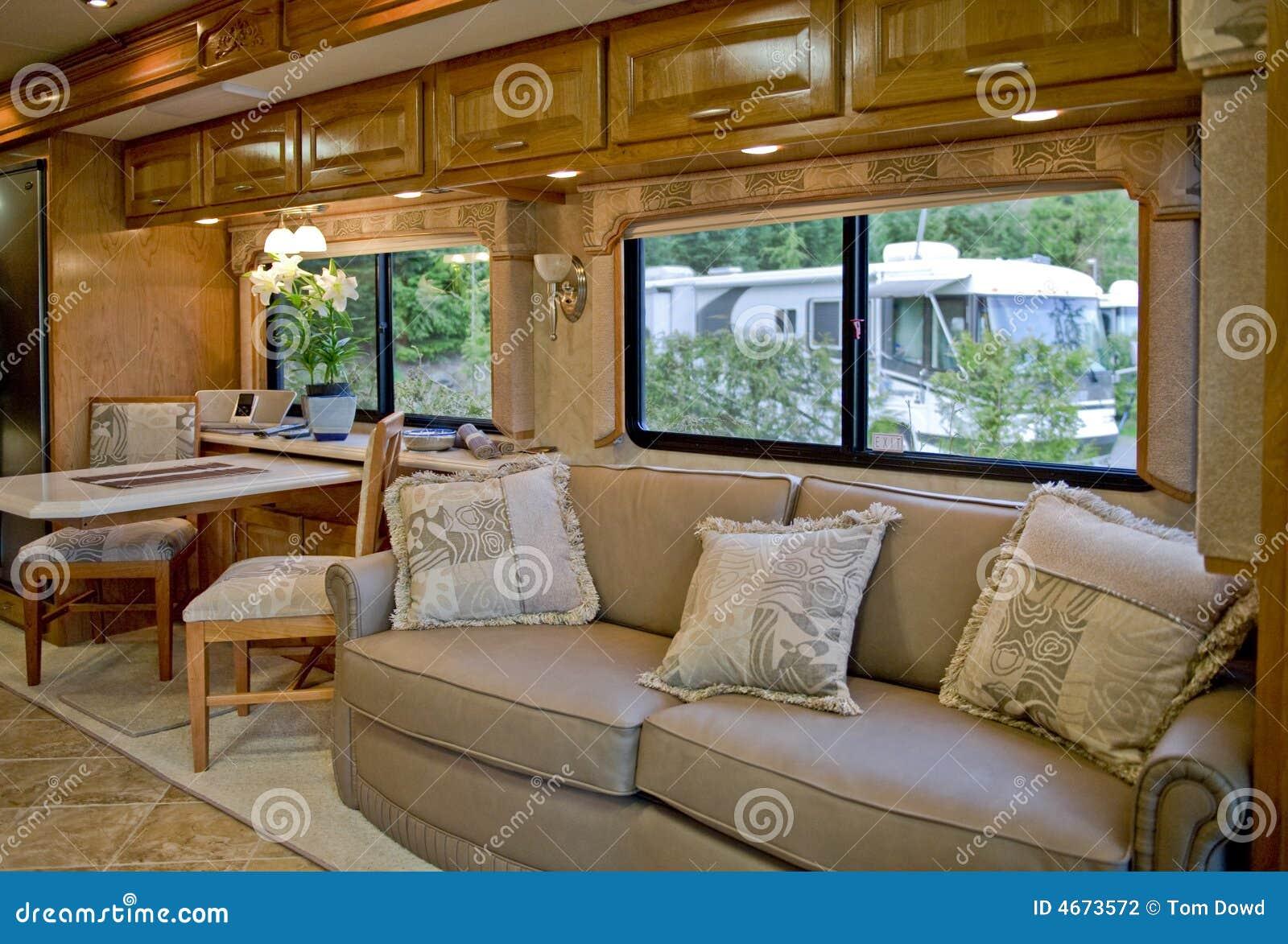 Camper interior stock photo image of travelling interior for Pop up camper interior designs