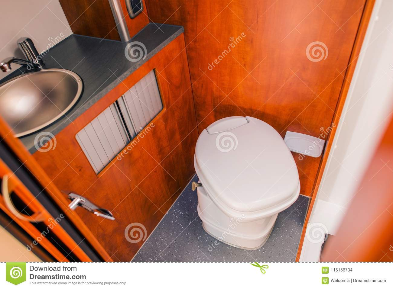 Outstanding Camper Rv Toilet Bathroom Stock Photo Image Of Shower Gmtry Best Dining Table And Chair Ideas Images Gmtryco