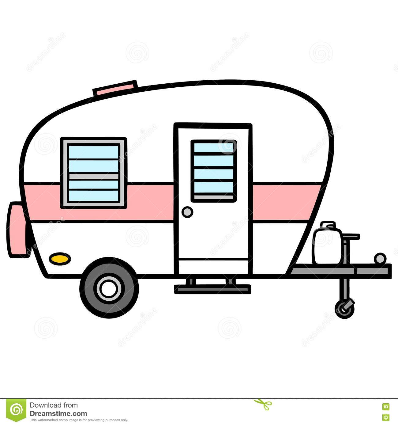 Camper stock vector. Illustration of camp, retro, summer ...