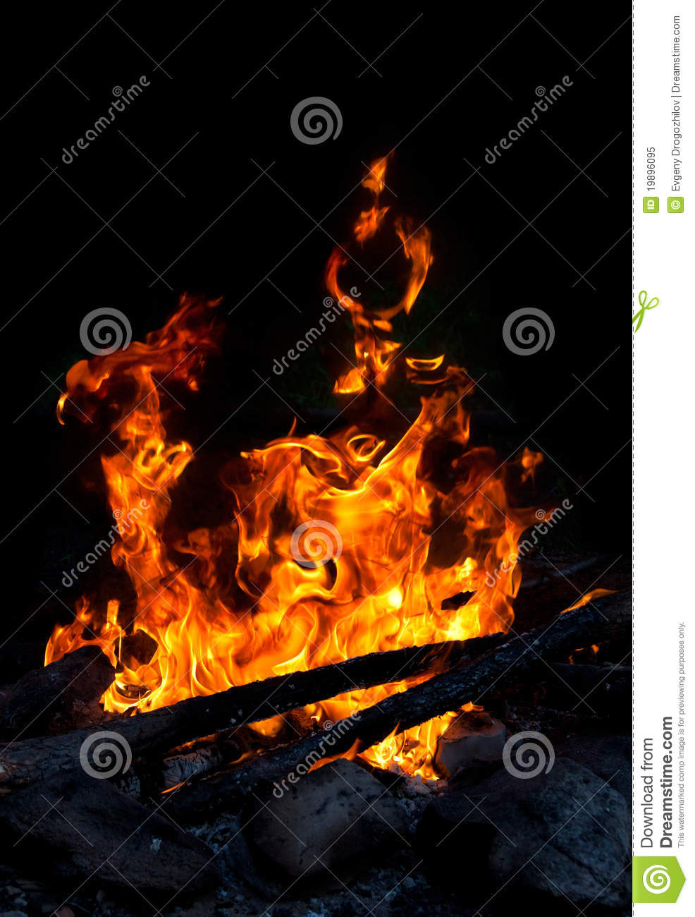 Download Campfire built outdoors stock image. Image of camp, dark - 19896095
