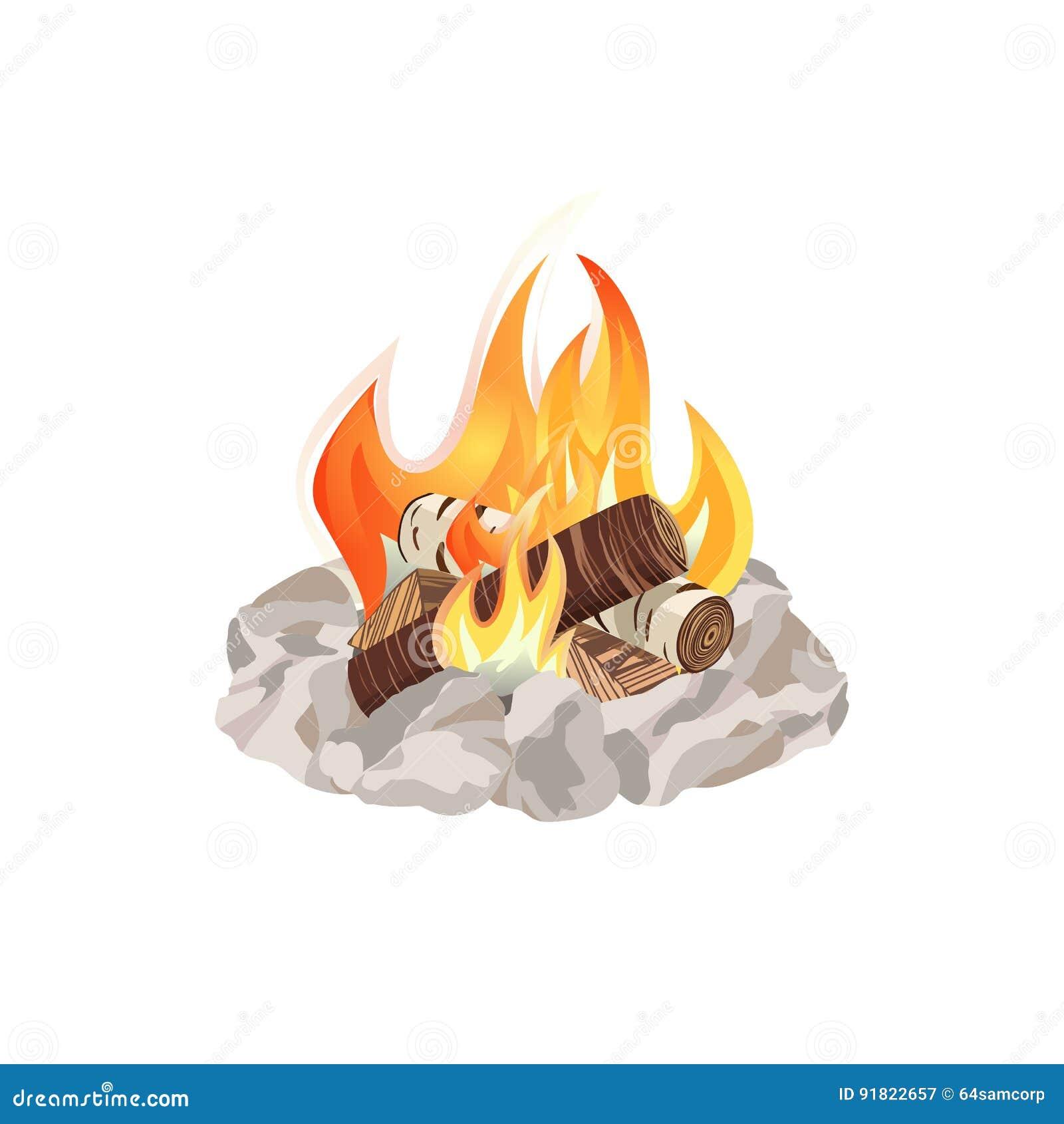 Campfire Ring Vector