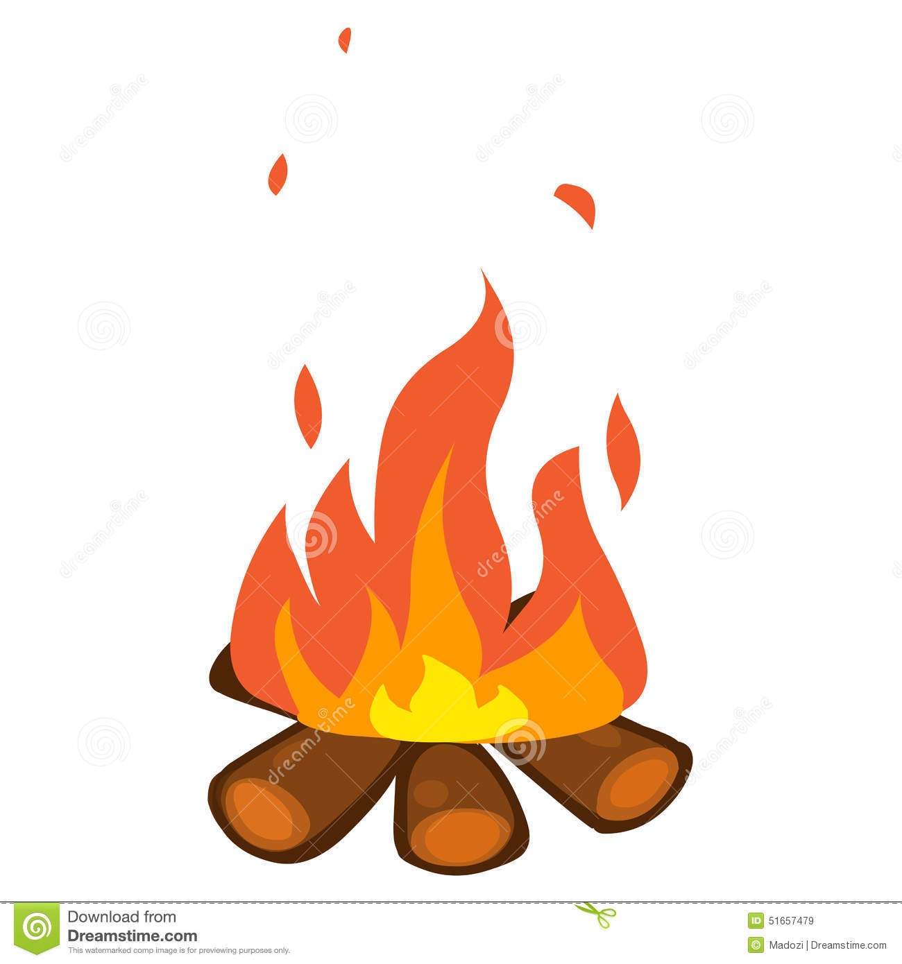 campfire isolated illustration stock vector illustration of heat  design 51657479 campfire clip art free campfire clipart black and white