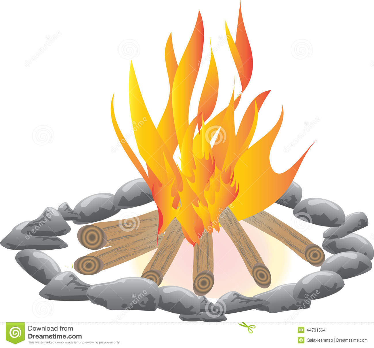 Campfire Stock Illustration