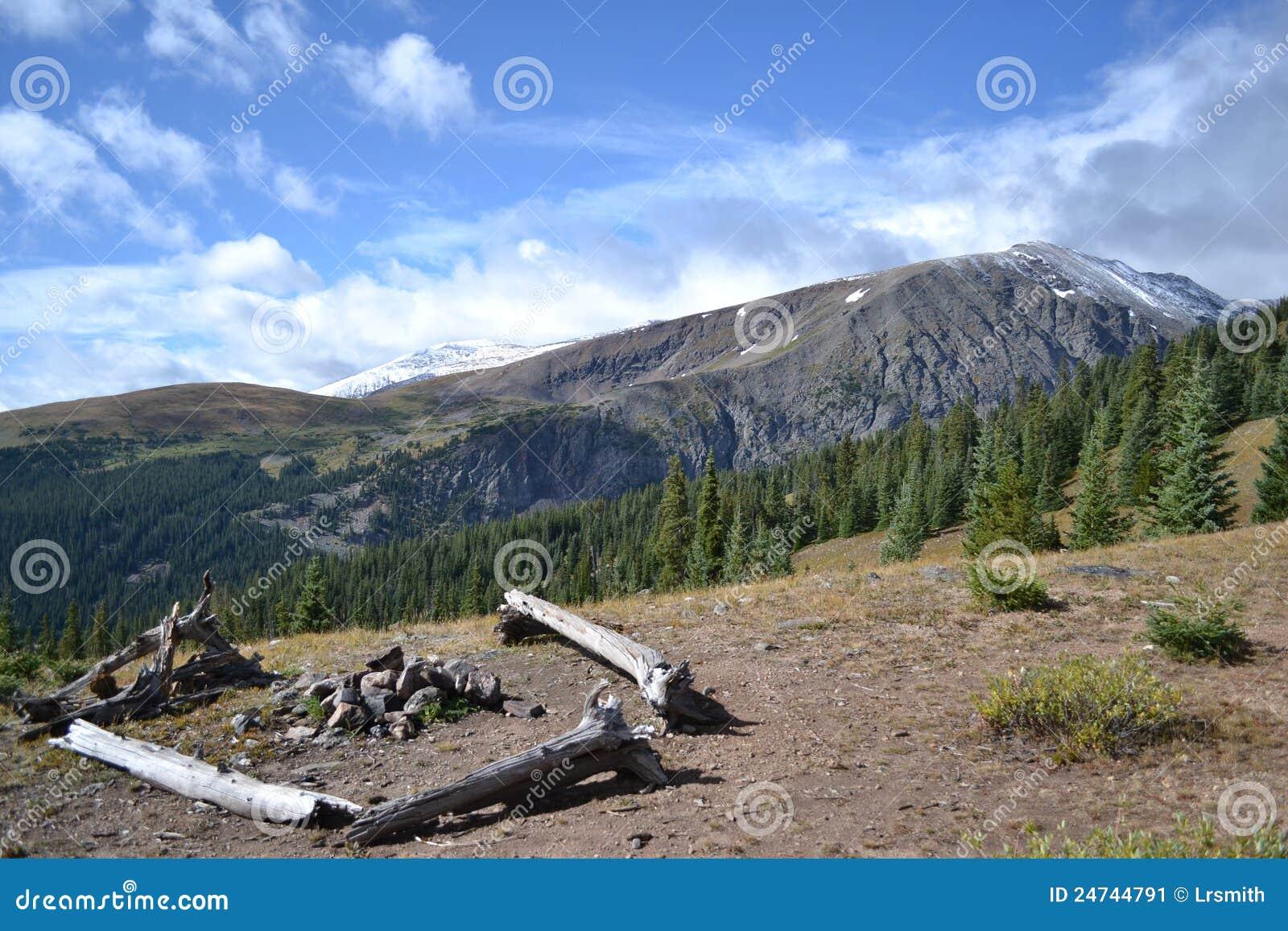Campground da montanha