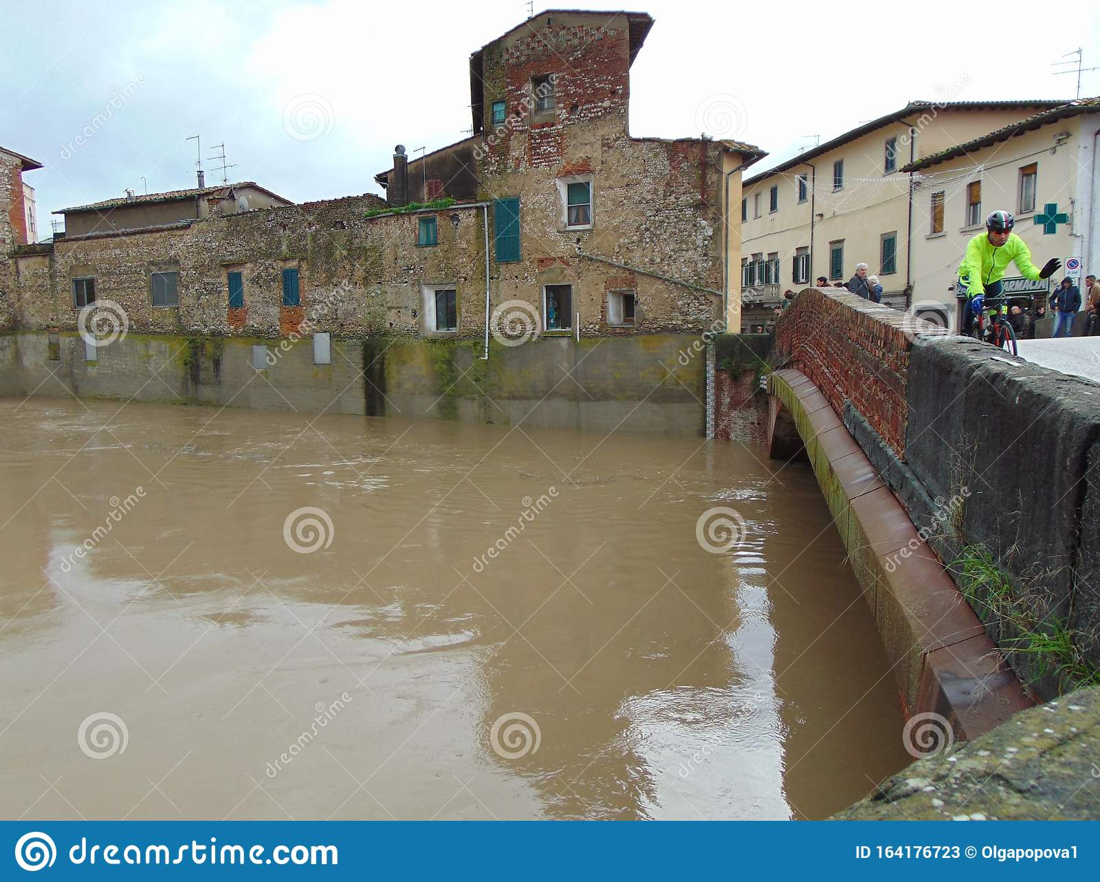 Campi Bisenzio, Tuscany, Italy. Rising Water Levels In The River ...