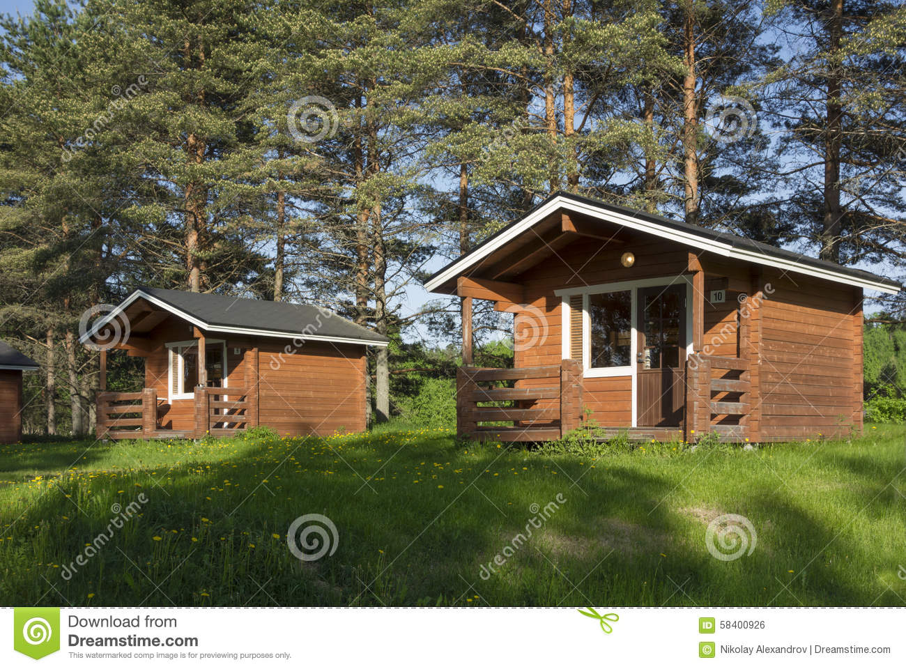 Camping Cabin Stock Photo Image 58400926
