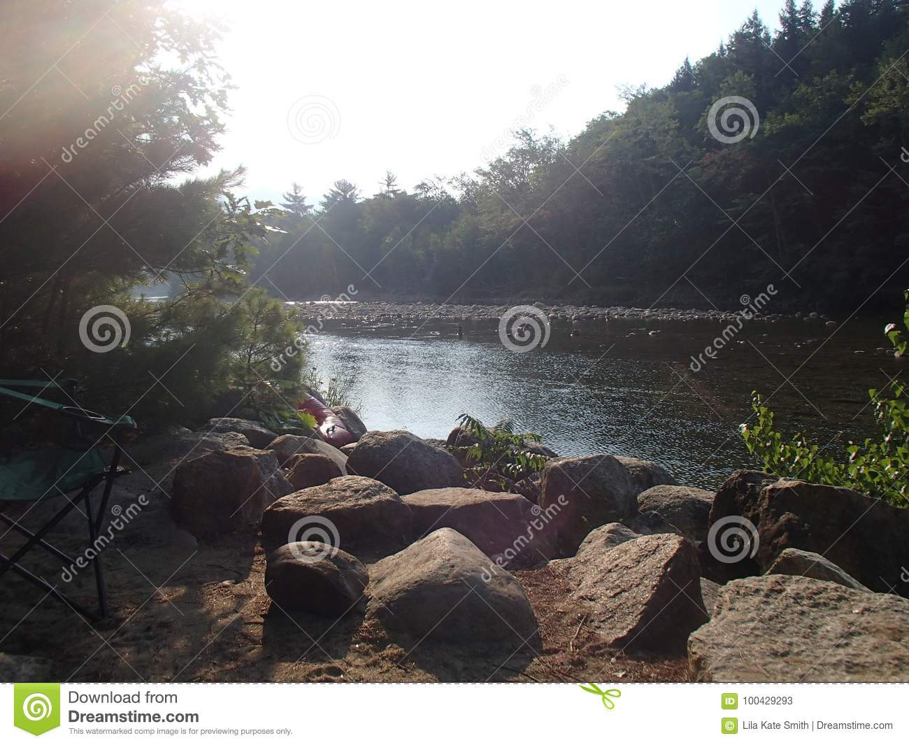Camping At Glen Ellis In New Hampshire Campsites Beside The Lazy River Talk About Stress Free No Phone Relaxation Type Of Vacation Float On The River