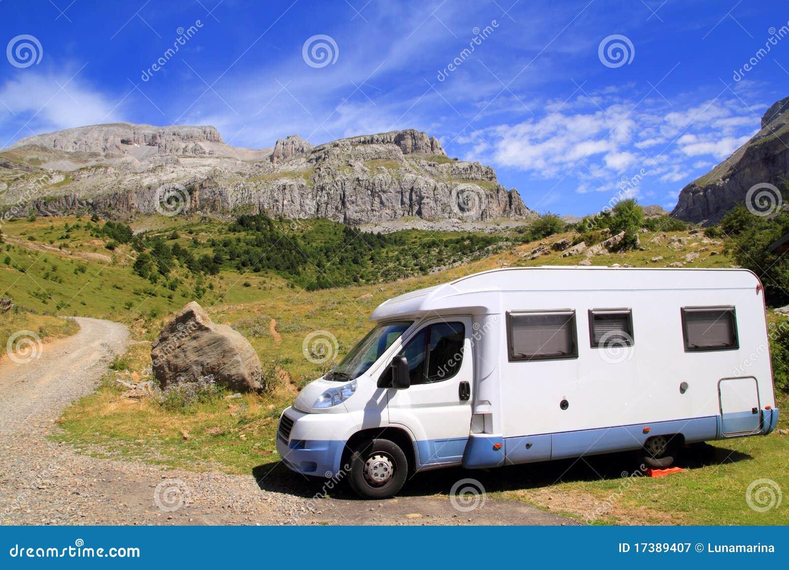 Camping Car Bleu Camp