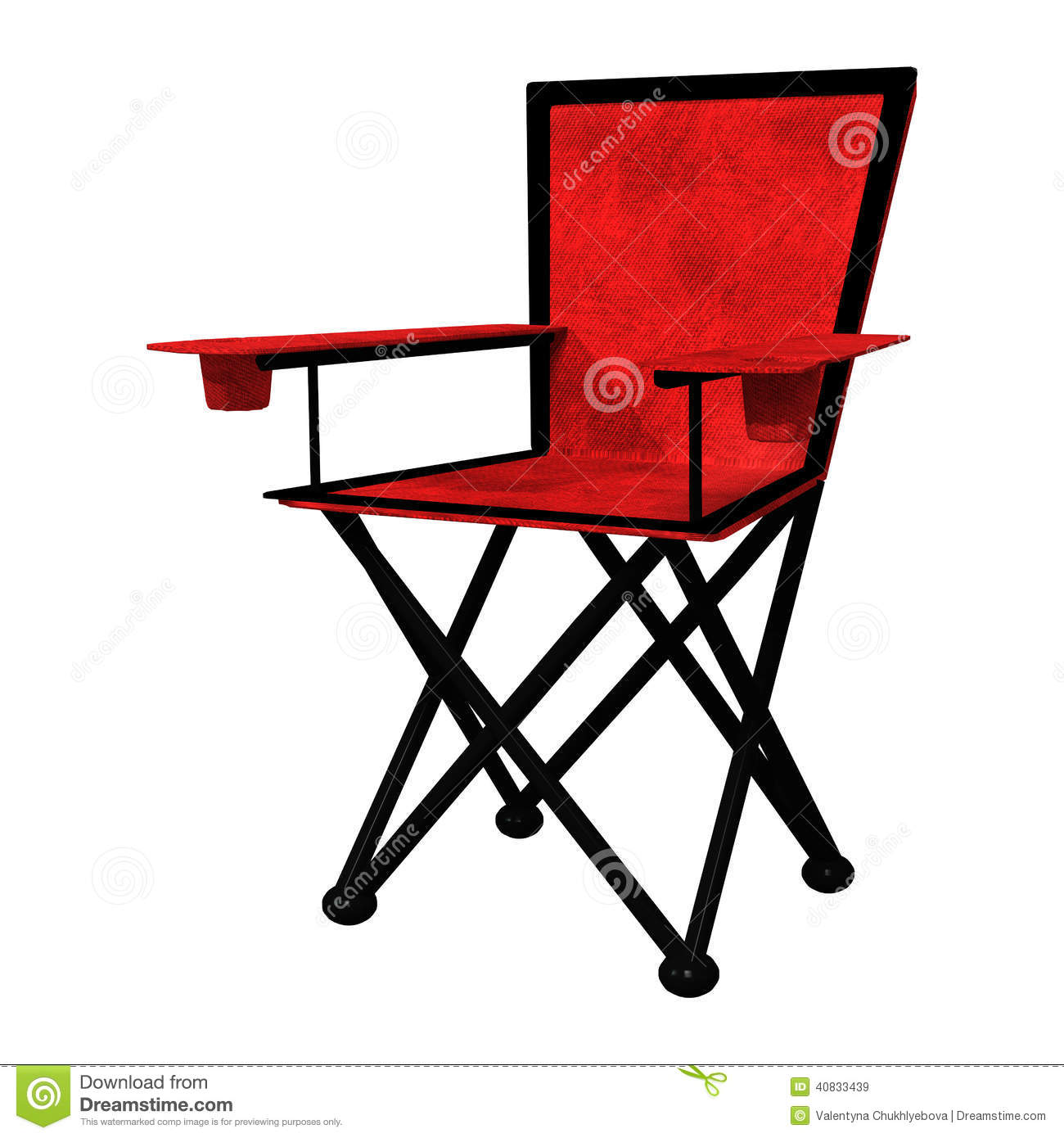 Camping Chair Stock Illustration Image 40833439