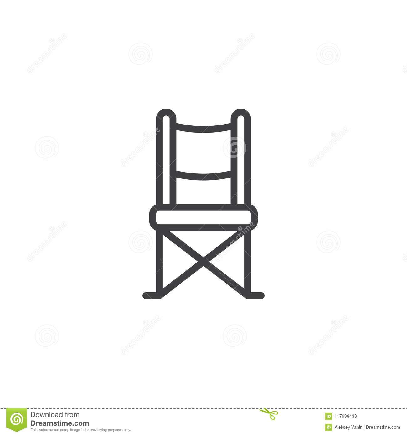 Swell Camping Chair Outline Icon Stock Vector Illustration Of Ncnpc Chair Design For Home Ncnpcorg
