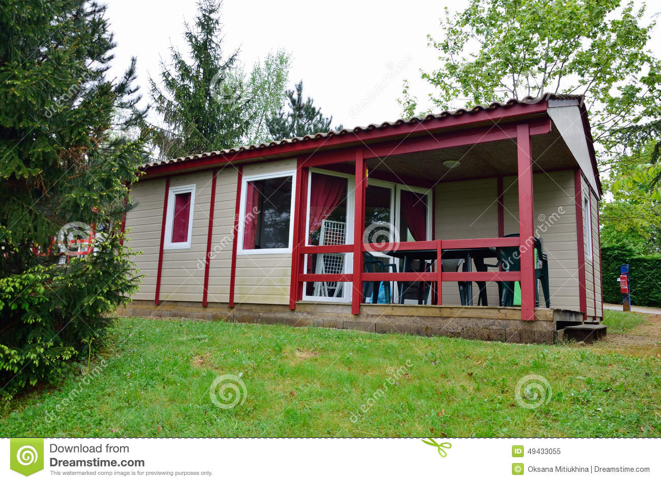 Camping Cottage In The Green Lawn Stock Image Image Of Small