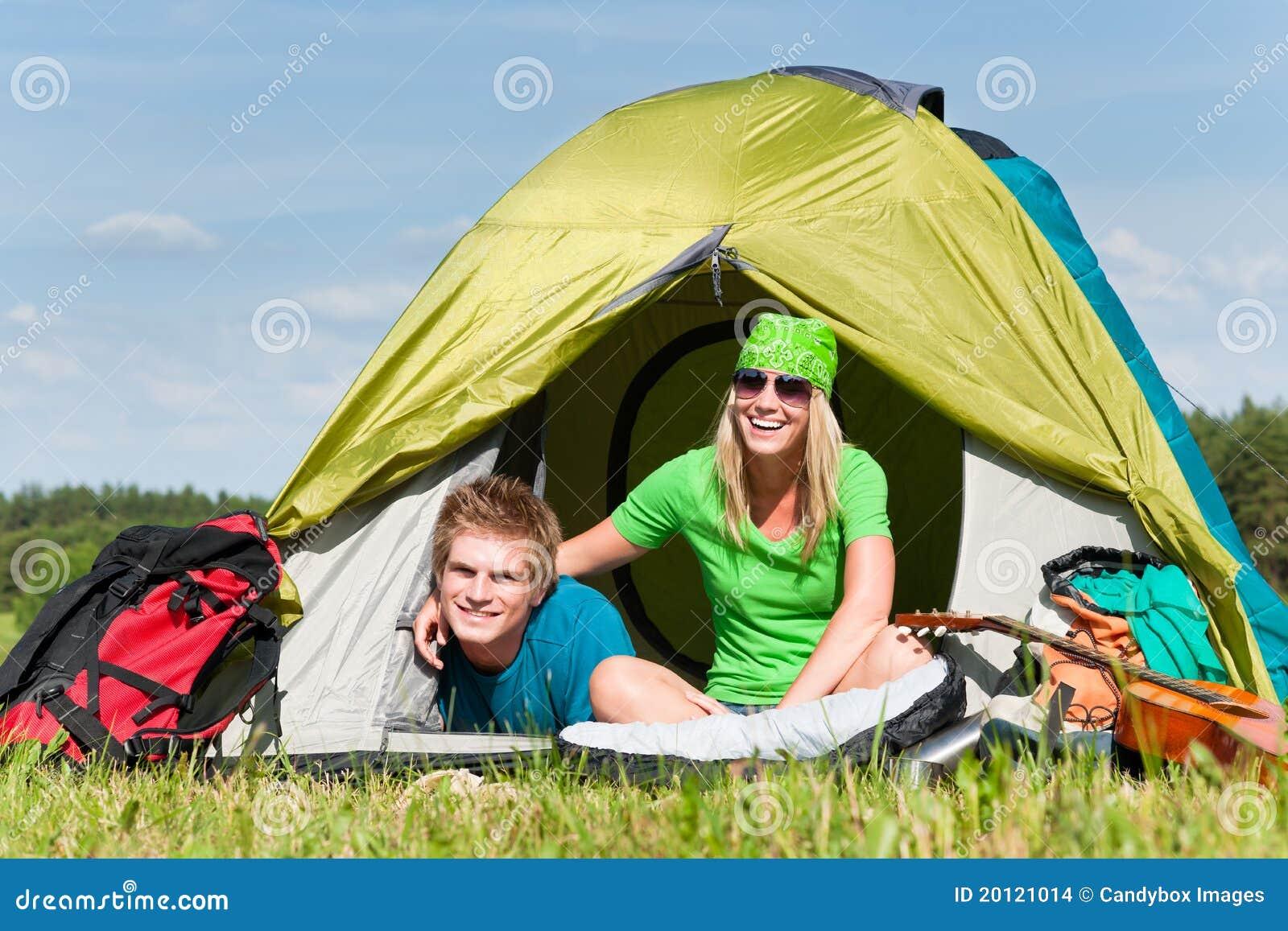 C&ing couple lying inside tent summer  sc 1 st  Dreamstime.com & Camping Couple Lying Inside Tent Summer Stock Photo - Image: 20121014