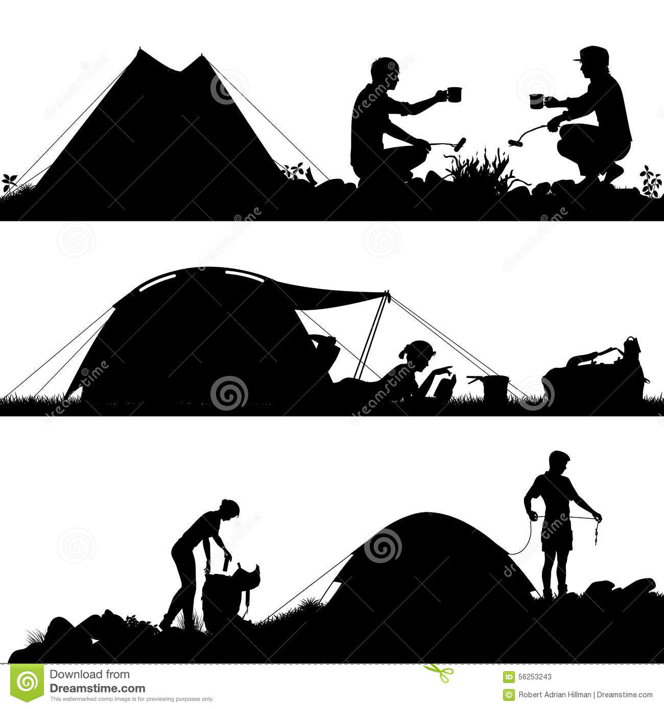 Tent Silhouette | www.pixshark.com - Images Galleries With ...
