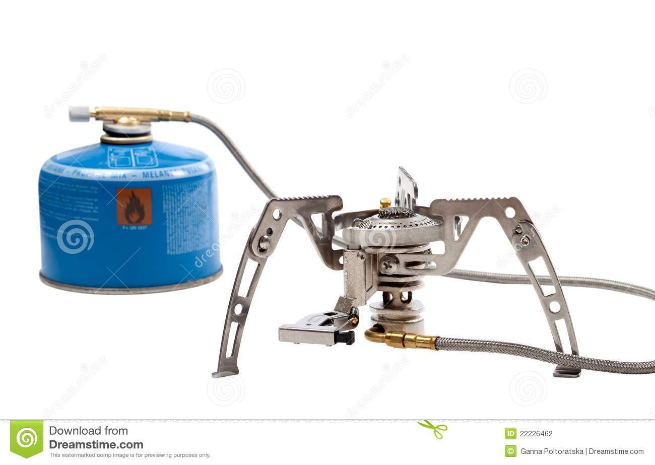 Camping Gas Stove With Cartridge Stock Photography - Image: 22226462