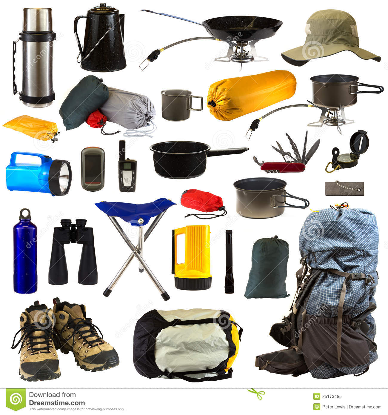 Camping Gear Royalty Free Stock Photo Image 25173485