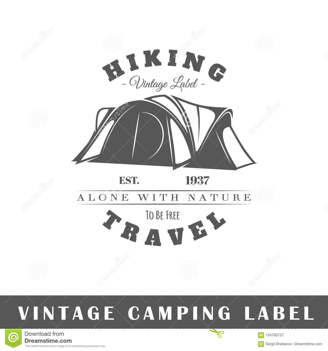 camping label template
