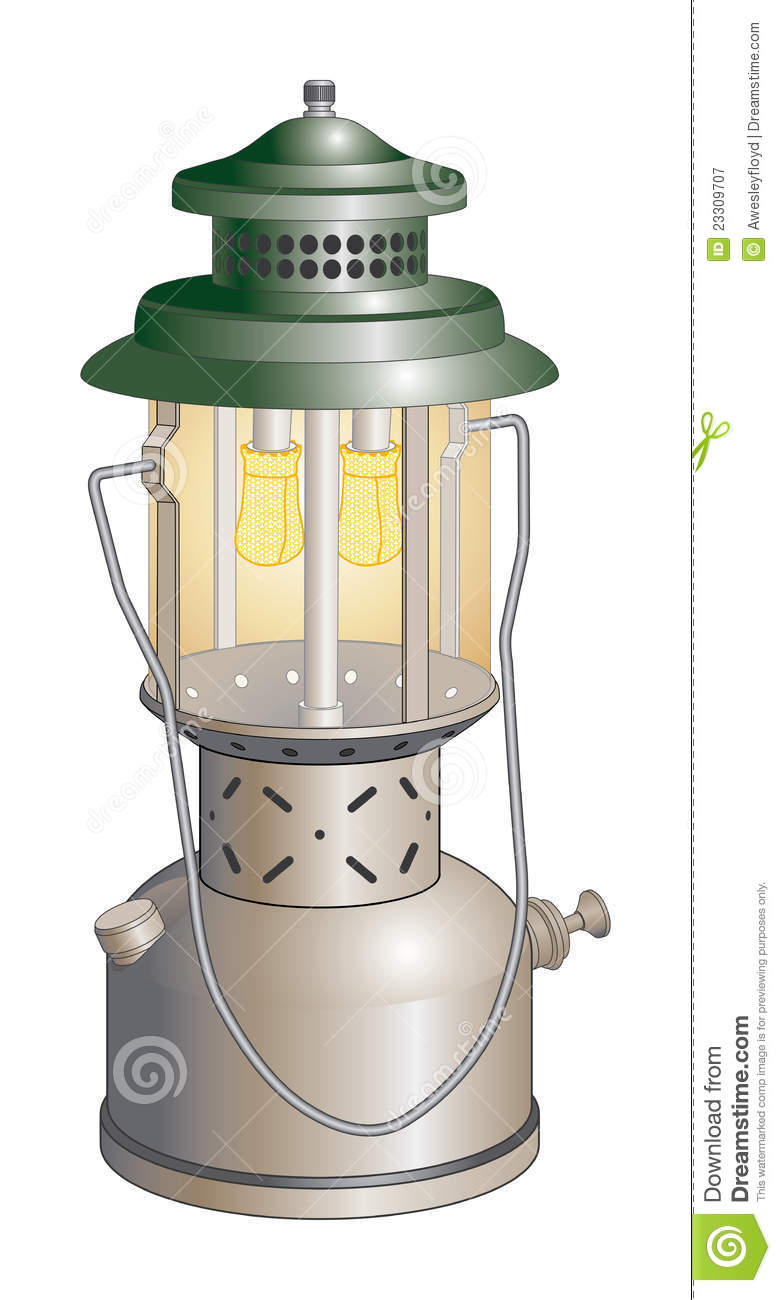 Camping Lantern Stock Vector Illustration Of Glass Equipment
