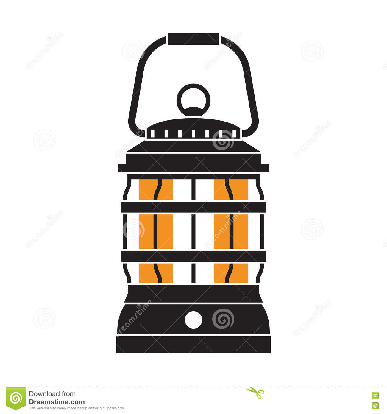 Camping Lantern Or Gas Lamp Stock Vector - Illustration of burning ... for Camping Lantern Clipart  58cpg