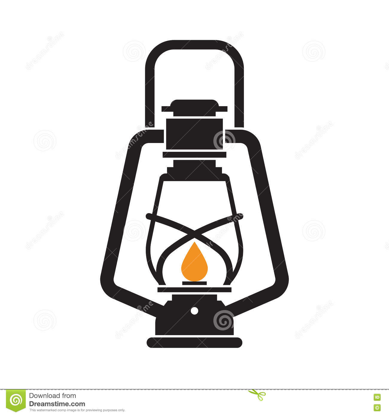 Camping Lantern Or Gas Lamp Stock Photography