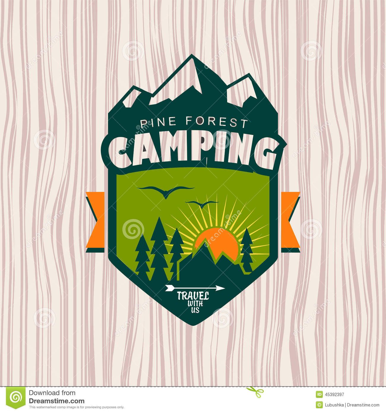 Camping Stock Vector Image 45392397