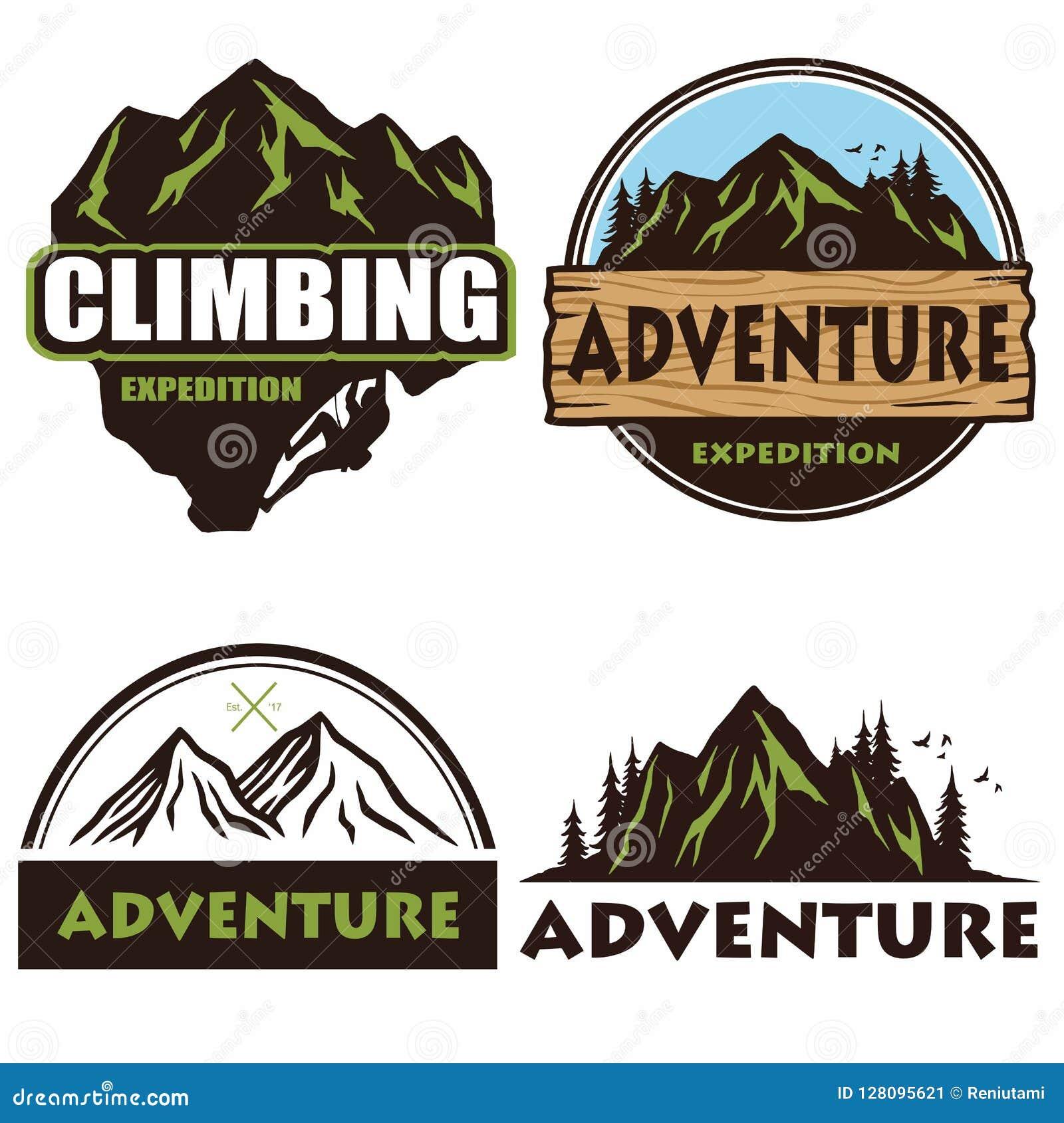 Camping Logo Set Design, Templates , Outdoor Adventure