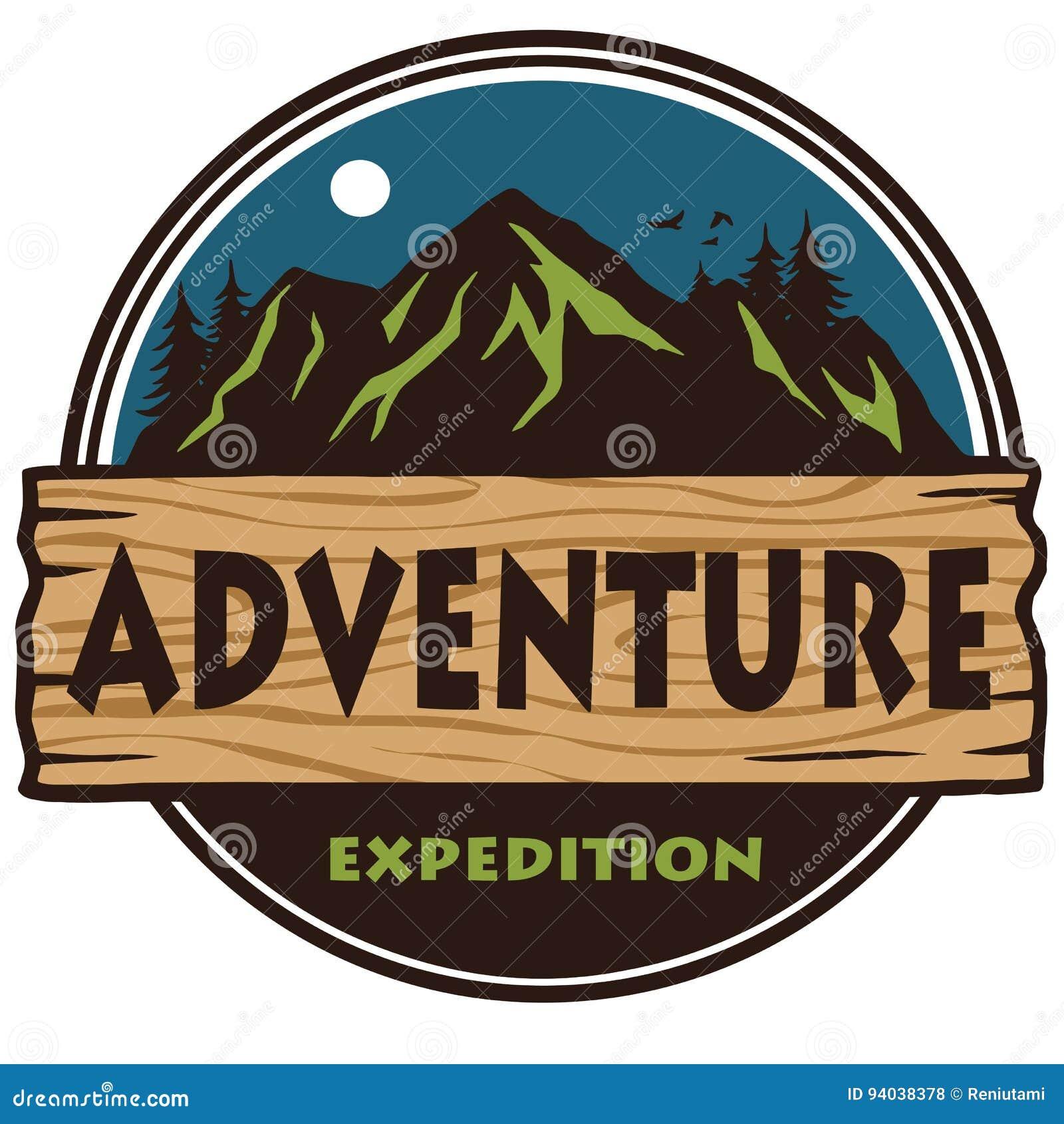 camping logo template vector stock vector