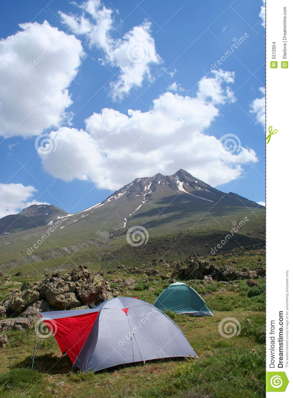 Tent On Side Of Mountain : Camping at mountain side stock images image