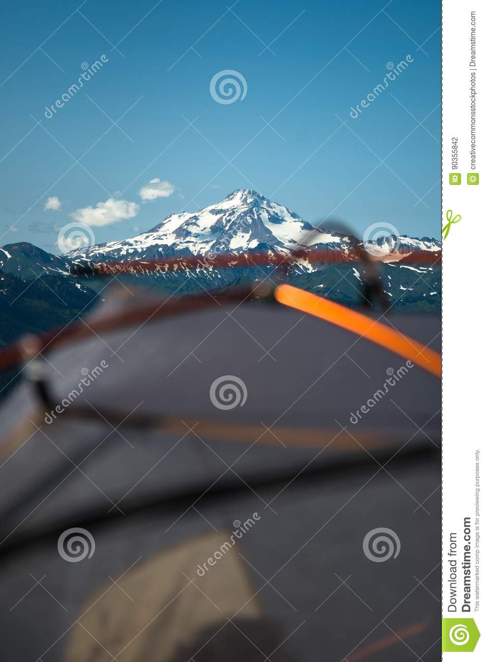 Download Camping at mountains stock photo. Image of skies, weather - 90355842
