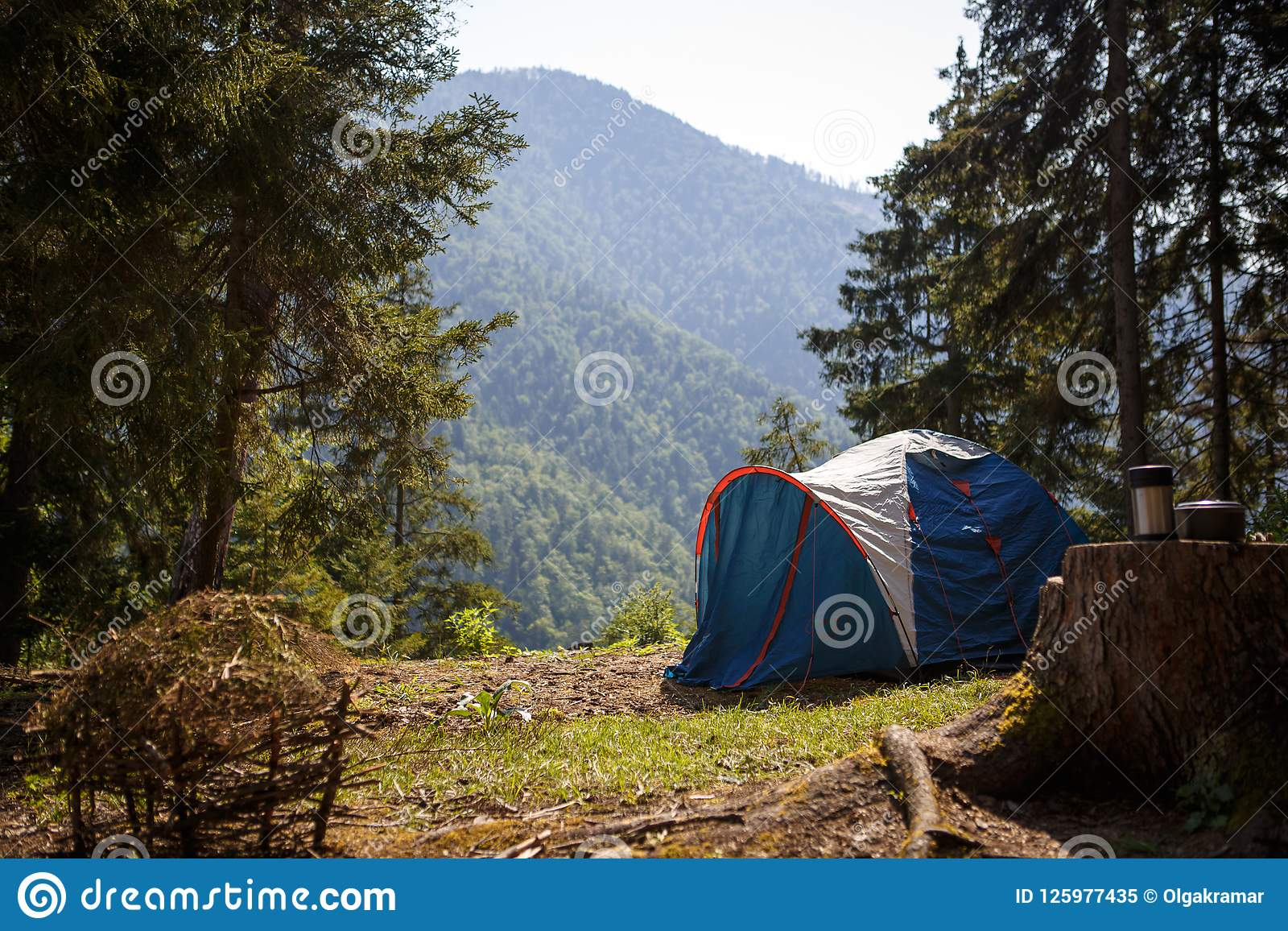 Camping In Nature, In The Mountains Of Georgia, Borjomi In ...