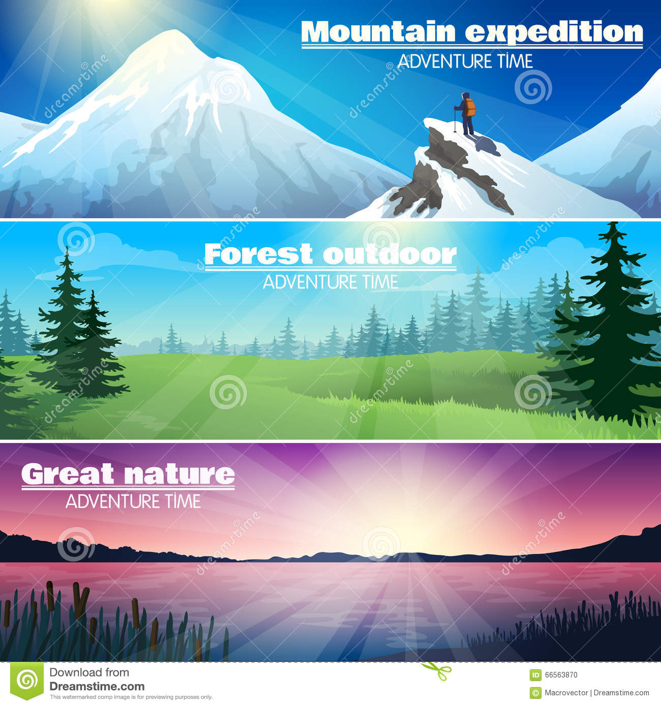 Camping Outdoor Activity Concept Backgrounds Cartoon