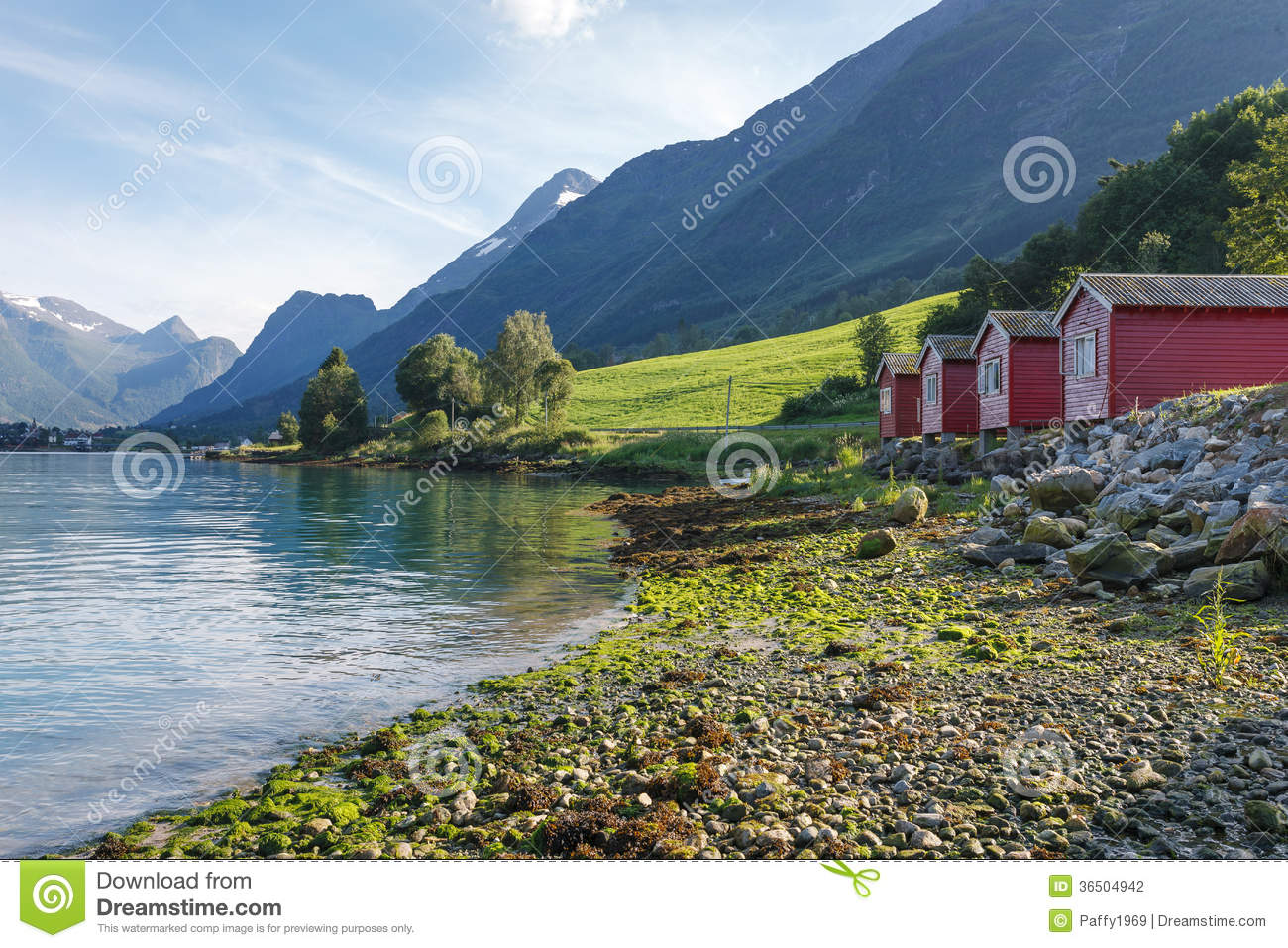 Camping On The Shore Of Nordfjord, Norway Stock Image ...