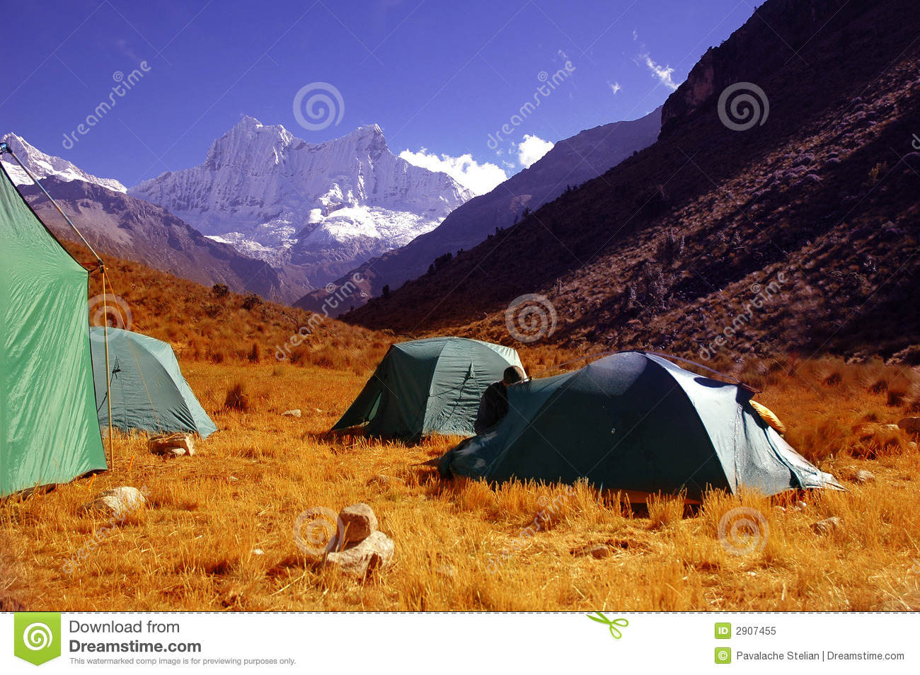 Royalty Free Stock Photo: Camping Site: www.dreamstime.com/royalty-free-stock-photo-camping-site-image2907455