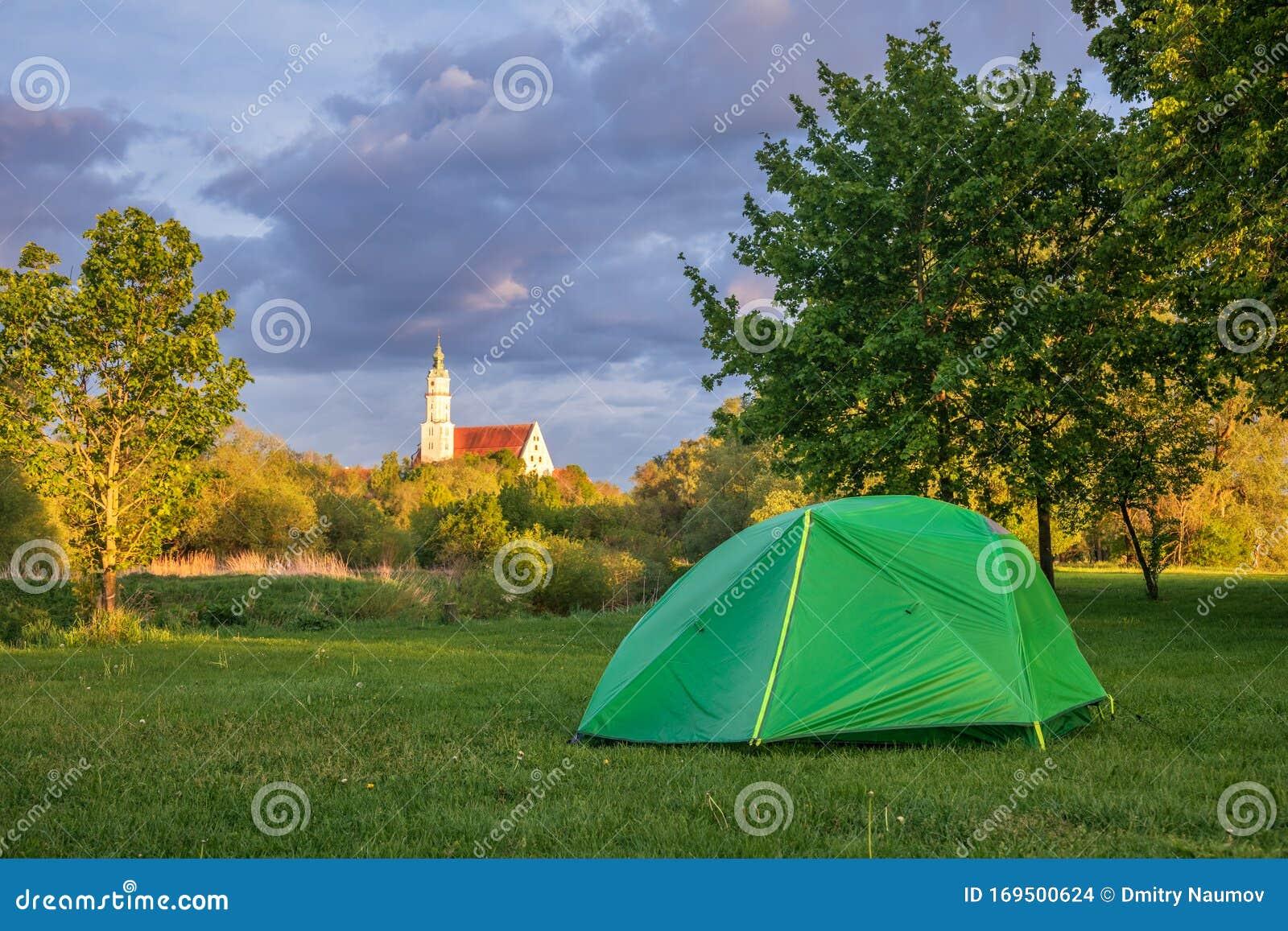 Camping Tent Romantic Road Touristic Route Donauworth ...