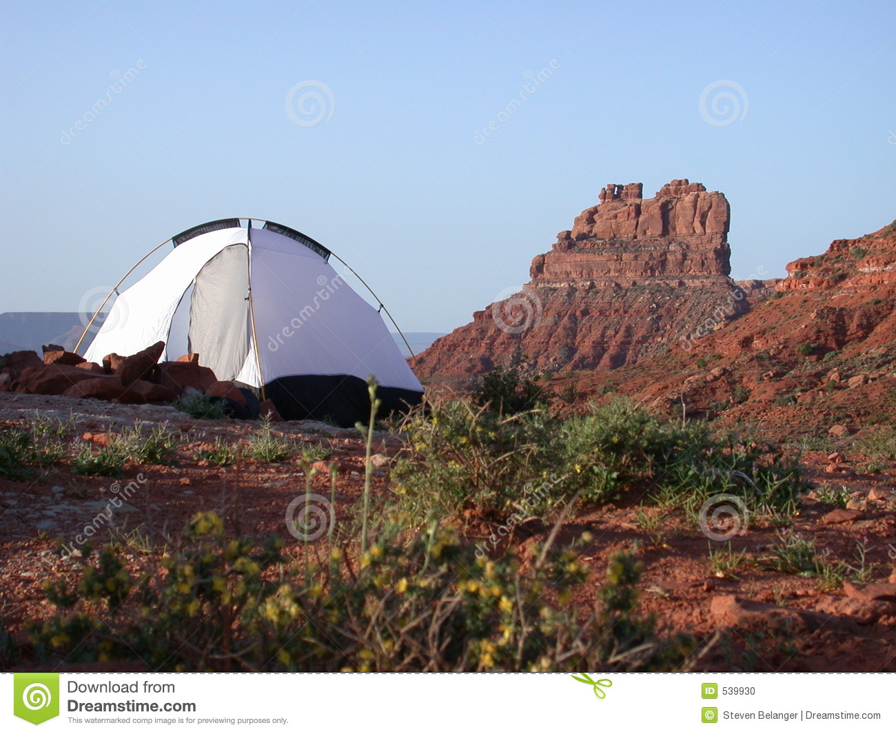 Camping In Valley Of The Gods Stock Photo