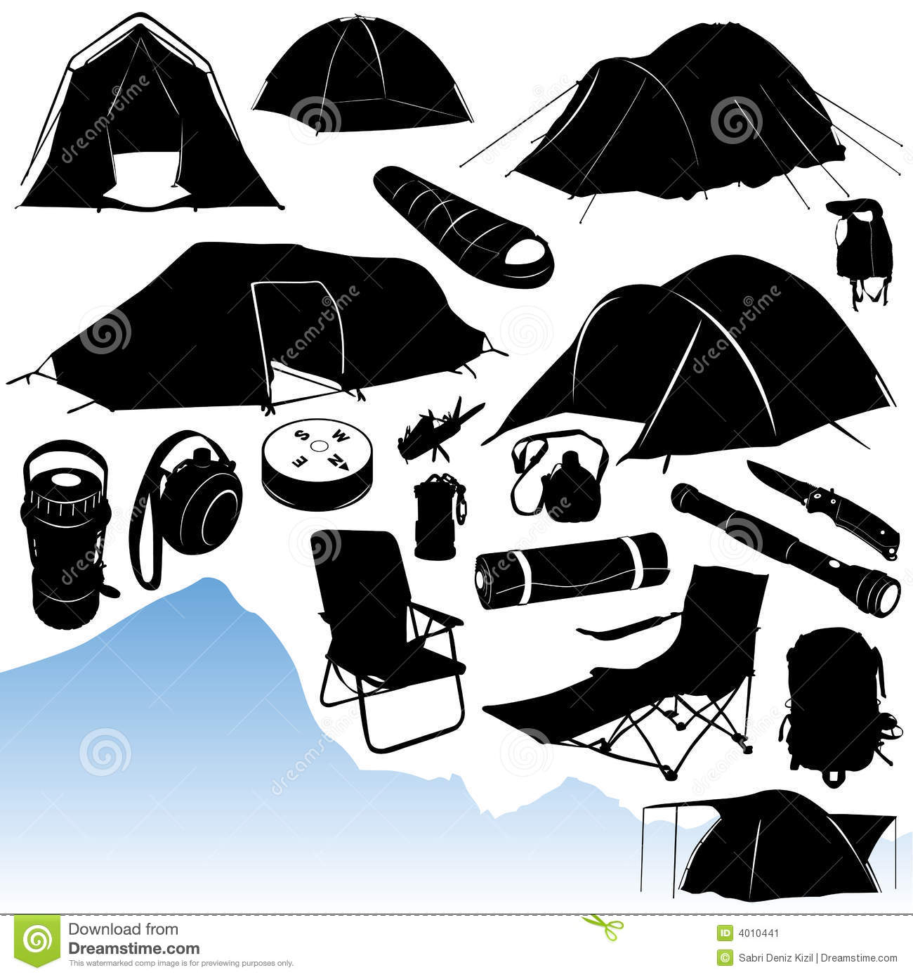 Camping Vector Stock Image - Image: 4010441