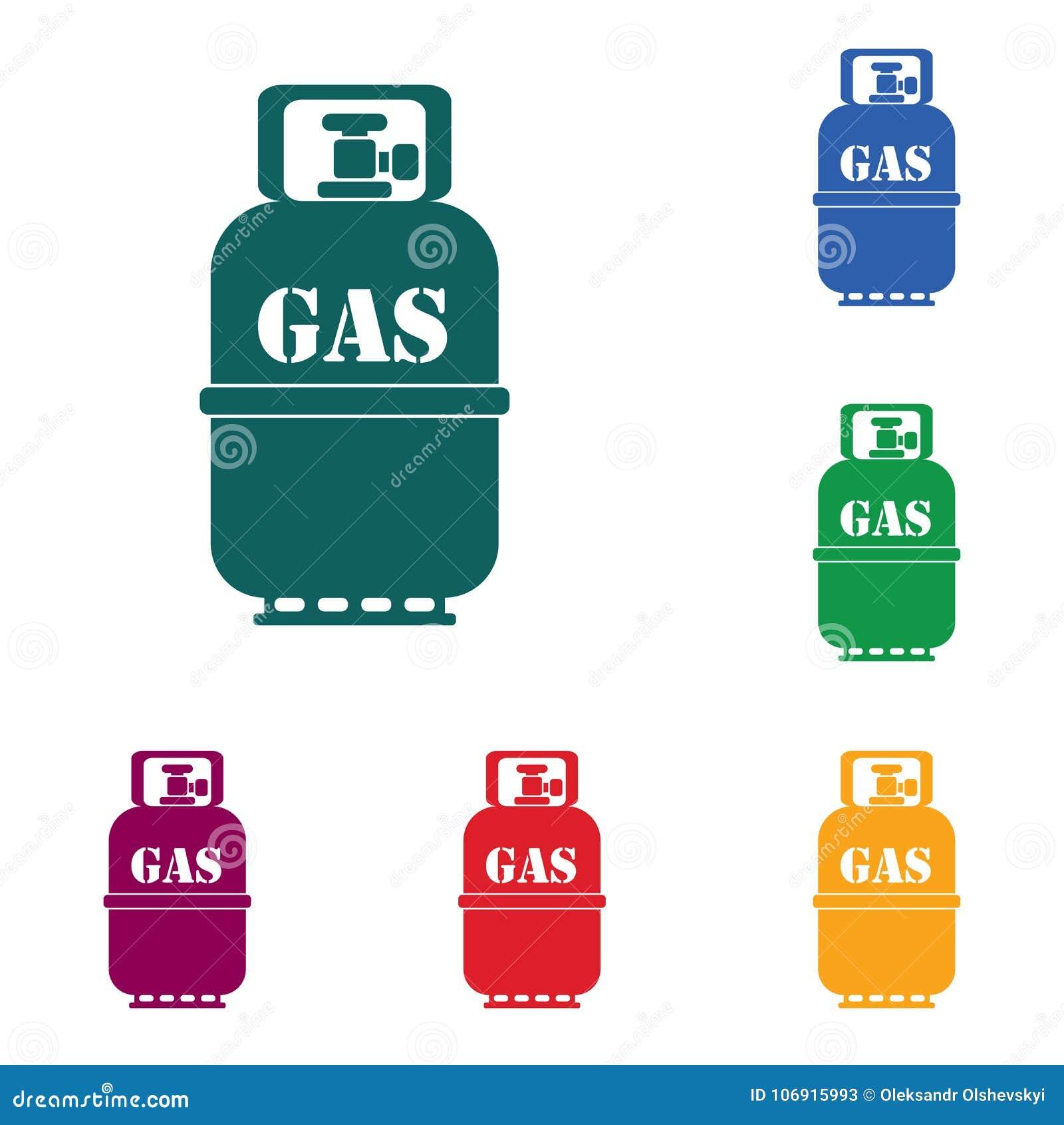 Campingowa benzynowej butelki ikona