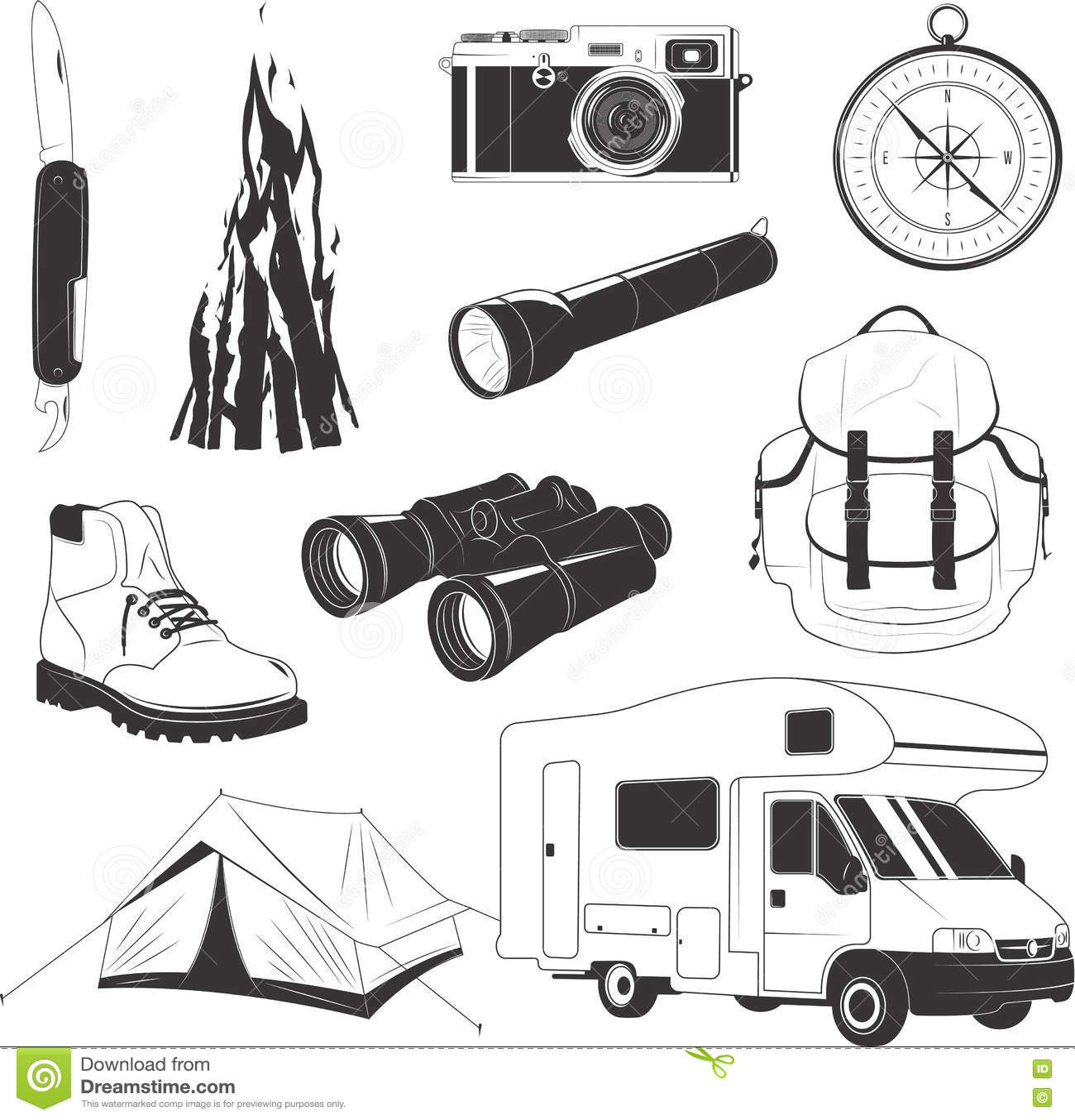 Campingowy materiału set