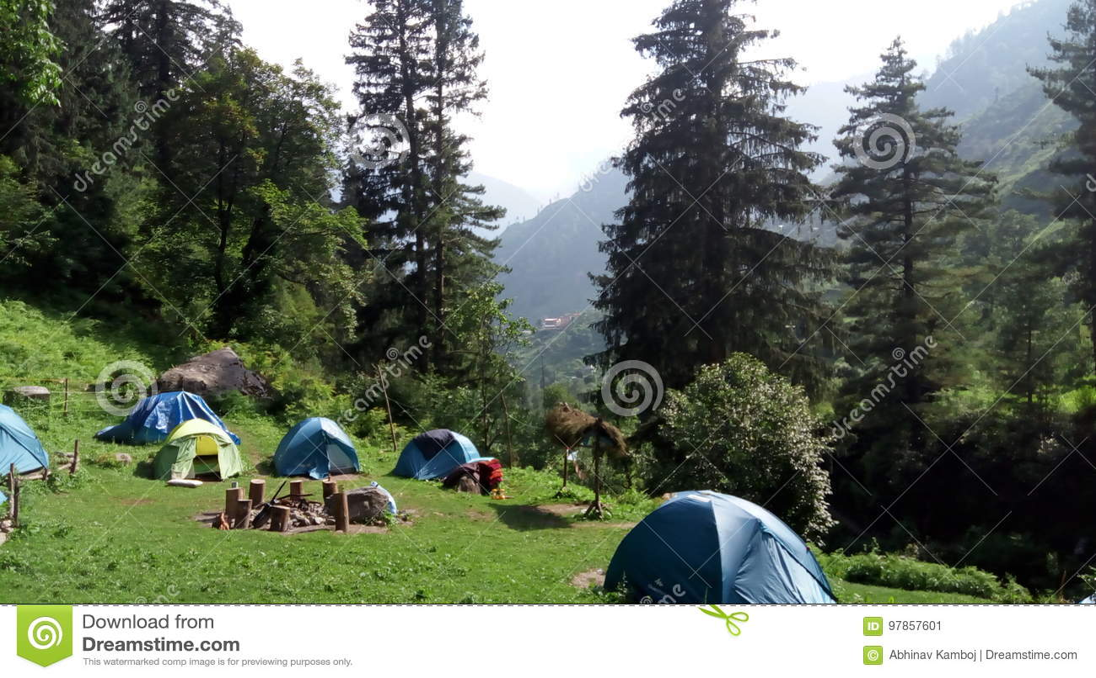 Campingowy miejsce