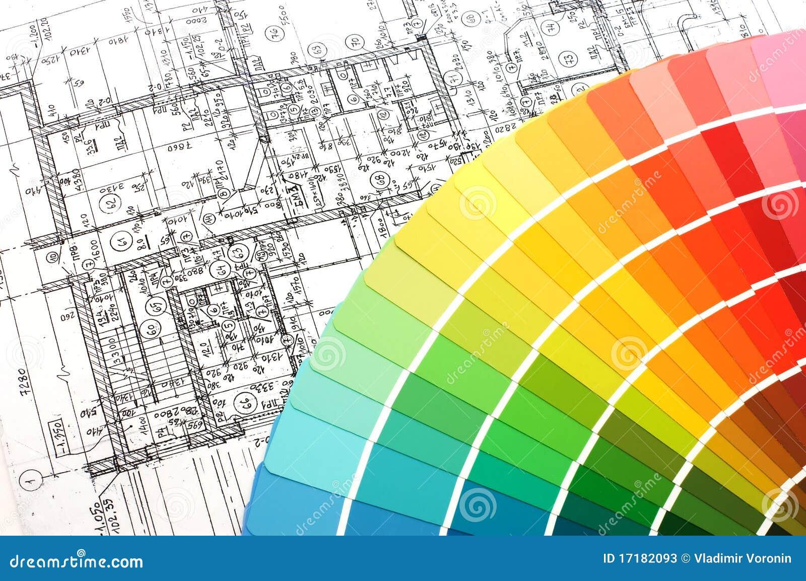 Campioni di colore per la selezione con il programma della for Programma di disegno della casa libera