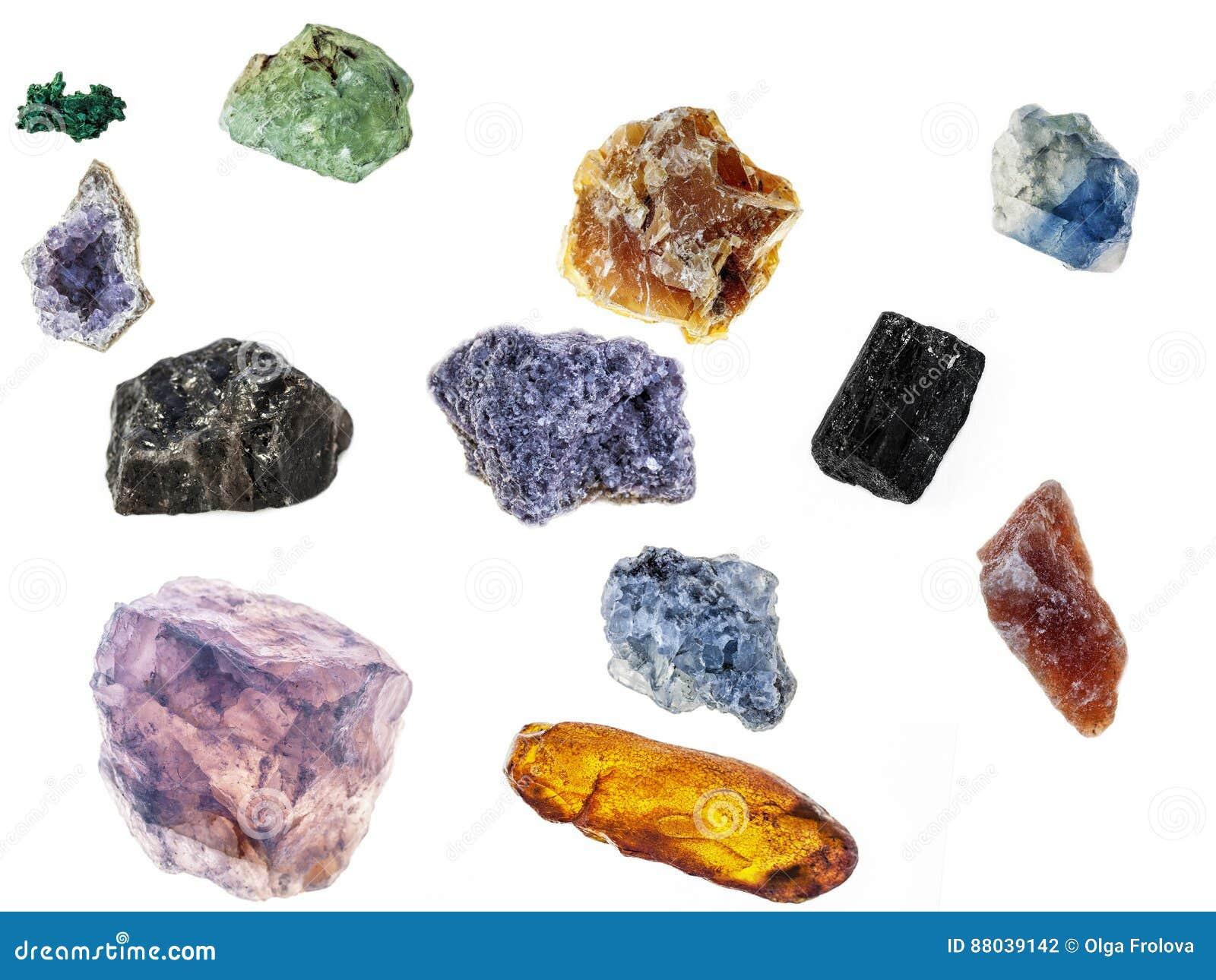 Campioni non trattati dei minerali
