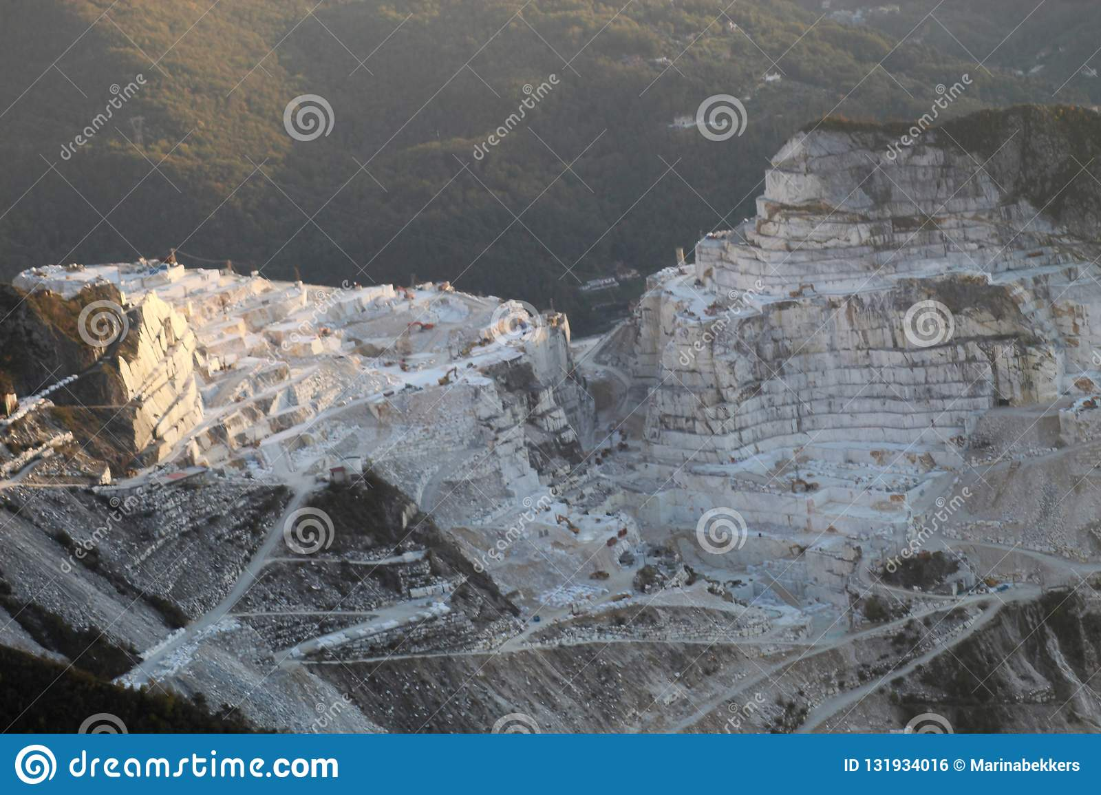 The marble mountains in Italy