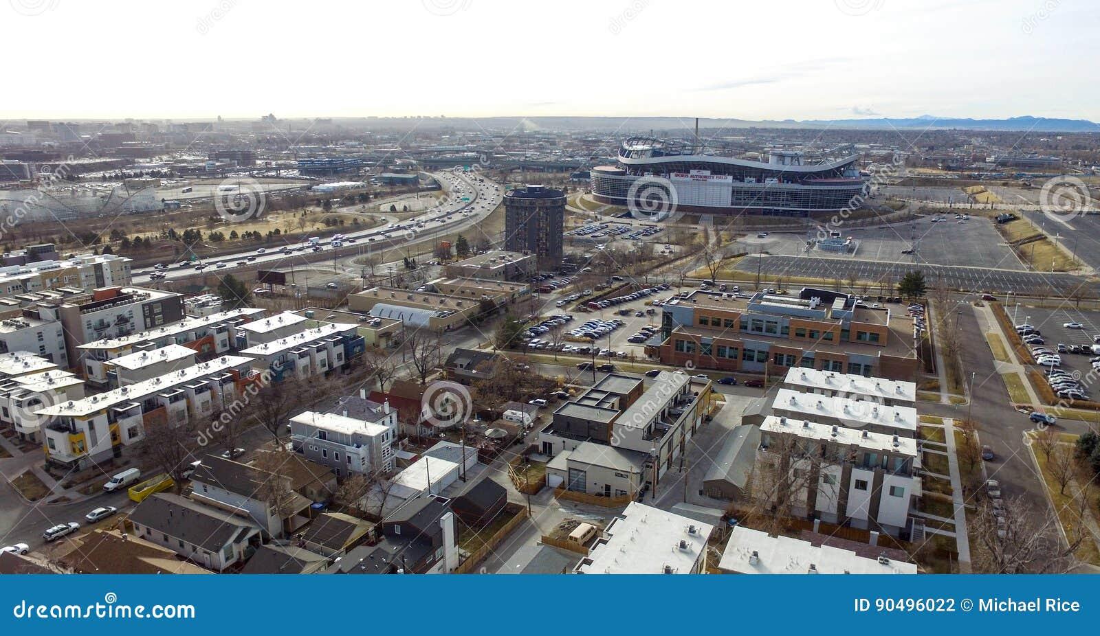 Campo da autoridade dos esportes em Denver Colorado