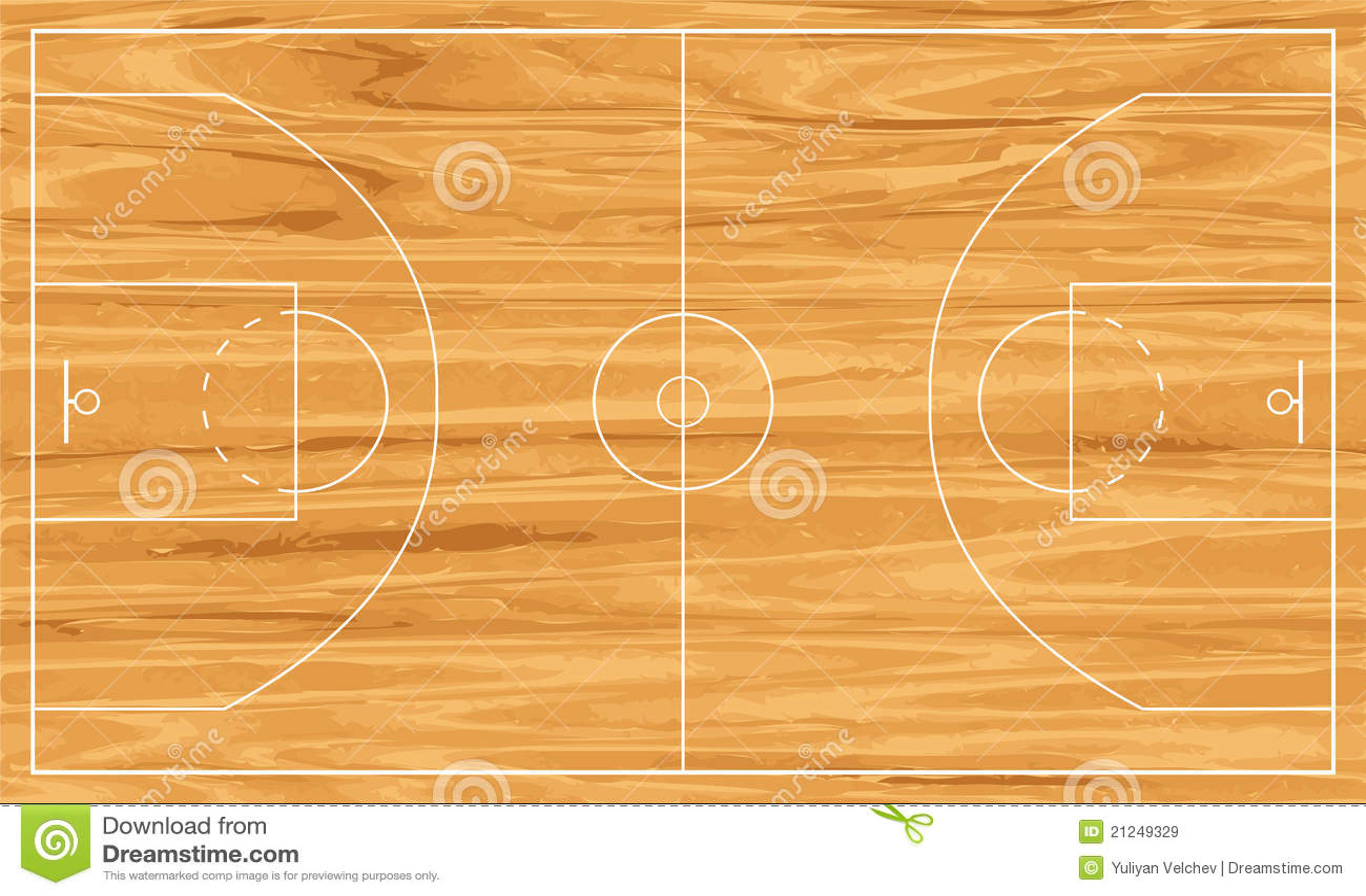 Campo da pallacanestro di legno