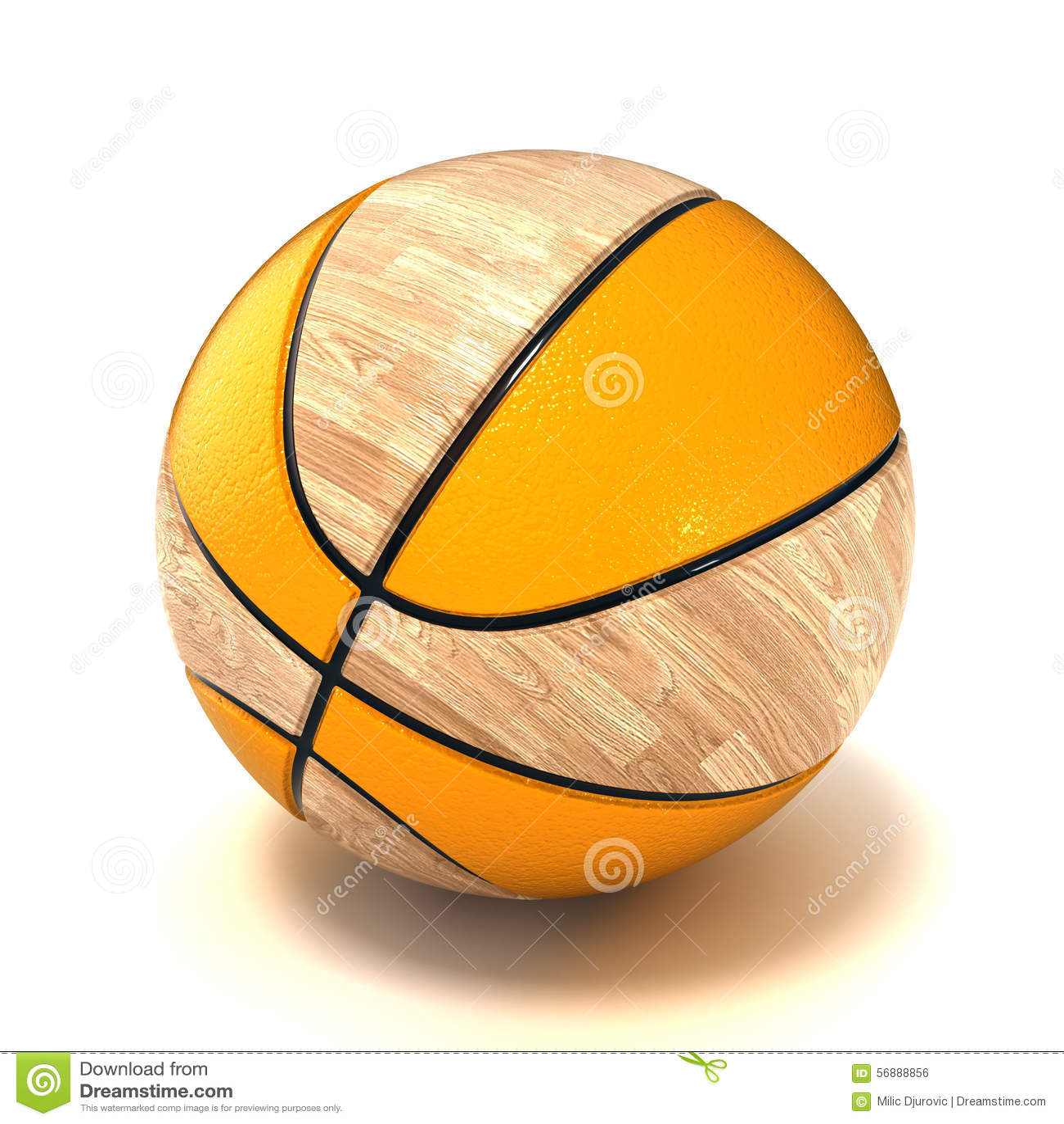 Campo da pallacanestro e sfera