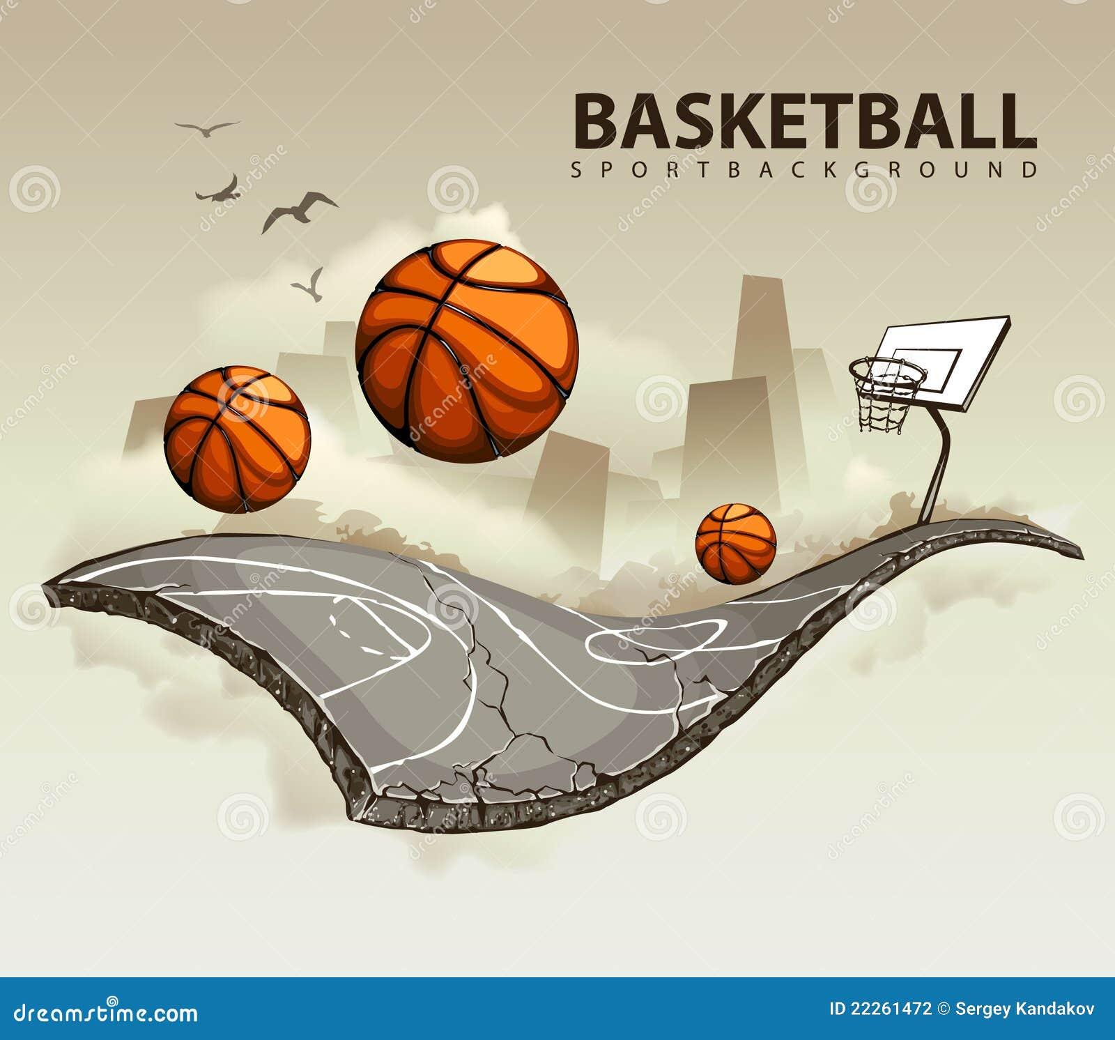 Campo da pallacanestro surreale